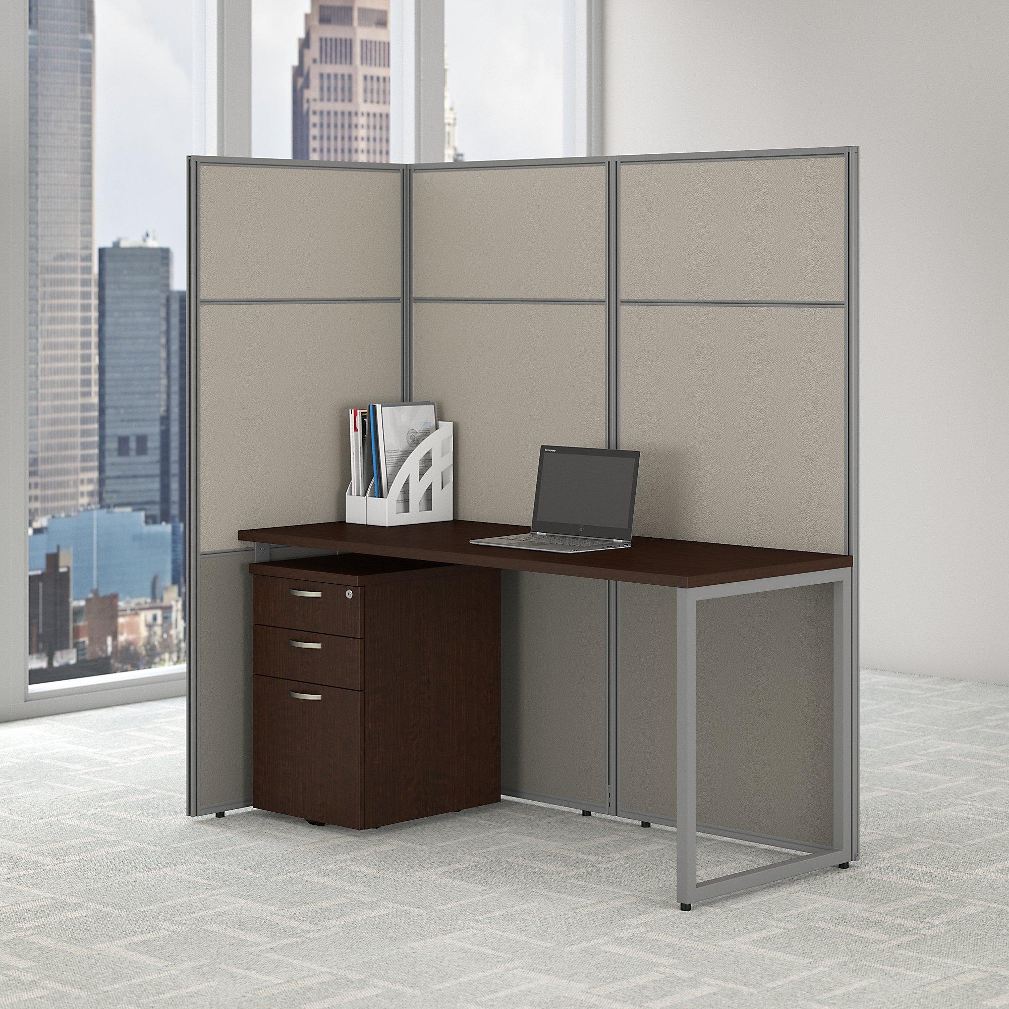 mocha cherry single user cubicle