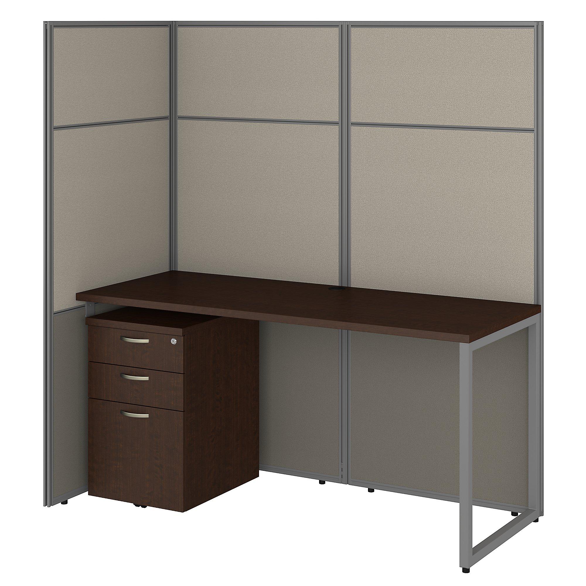 easy office mocha cherry cubicle