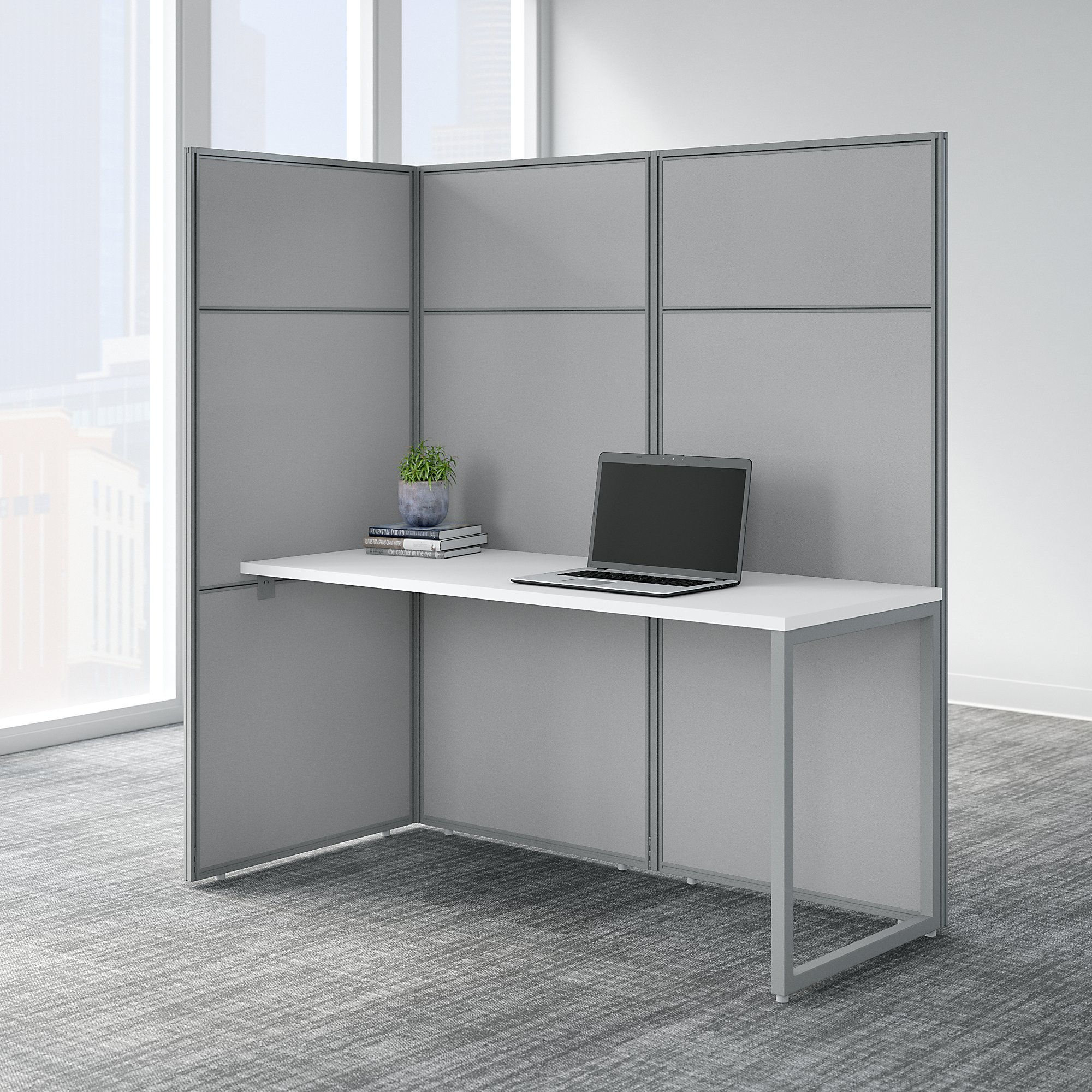 easy office pure white cubicle with 66h panels