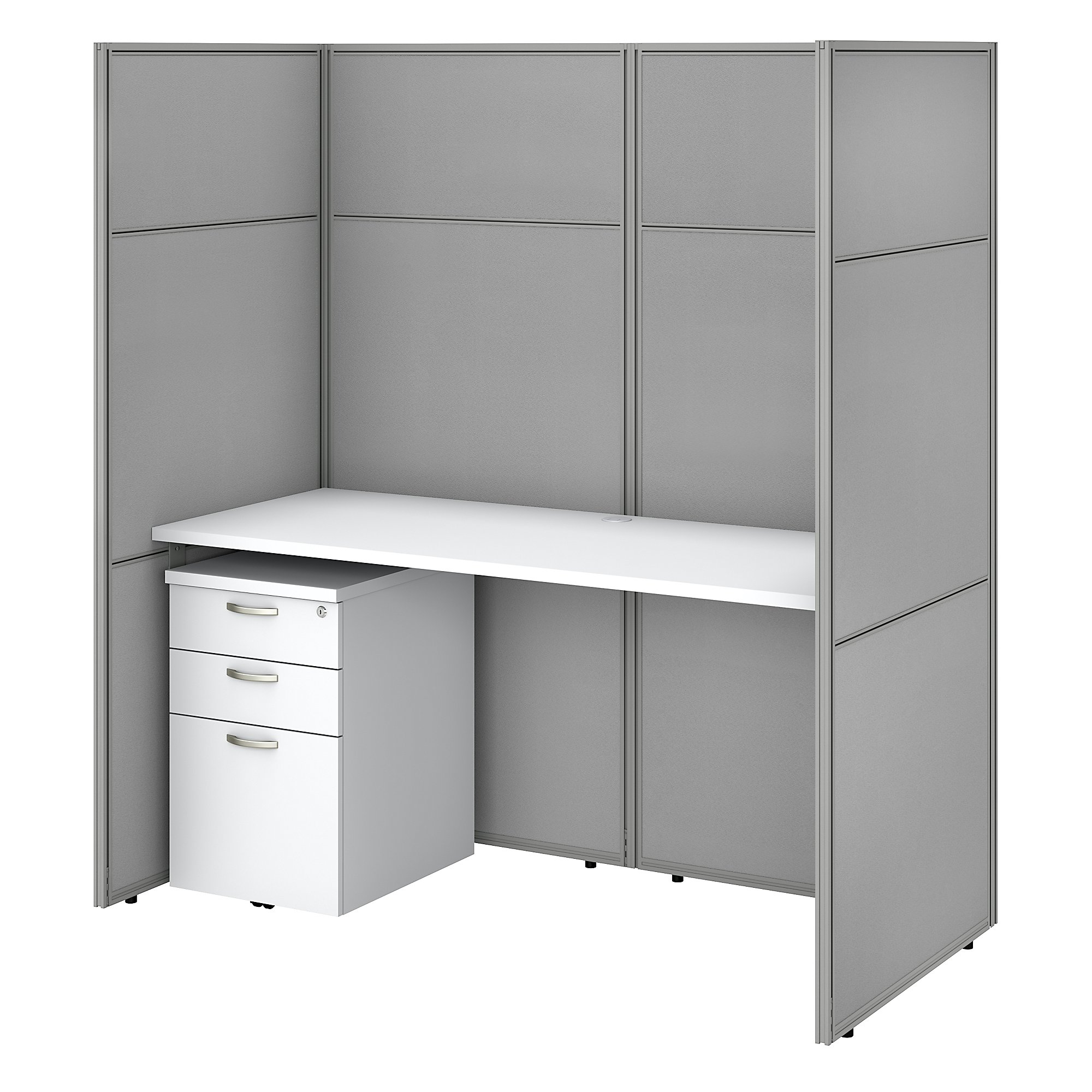 pure white easy office closed cubicle workstation