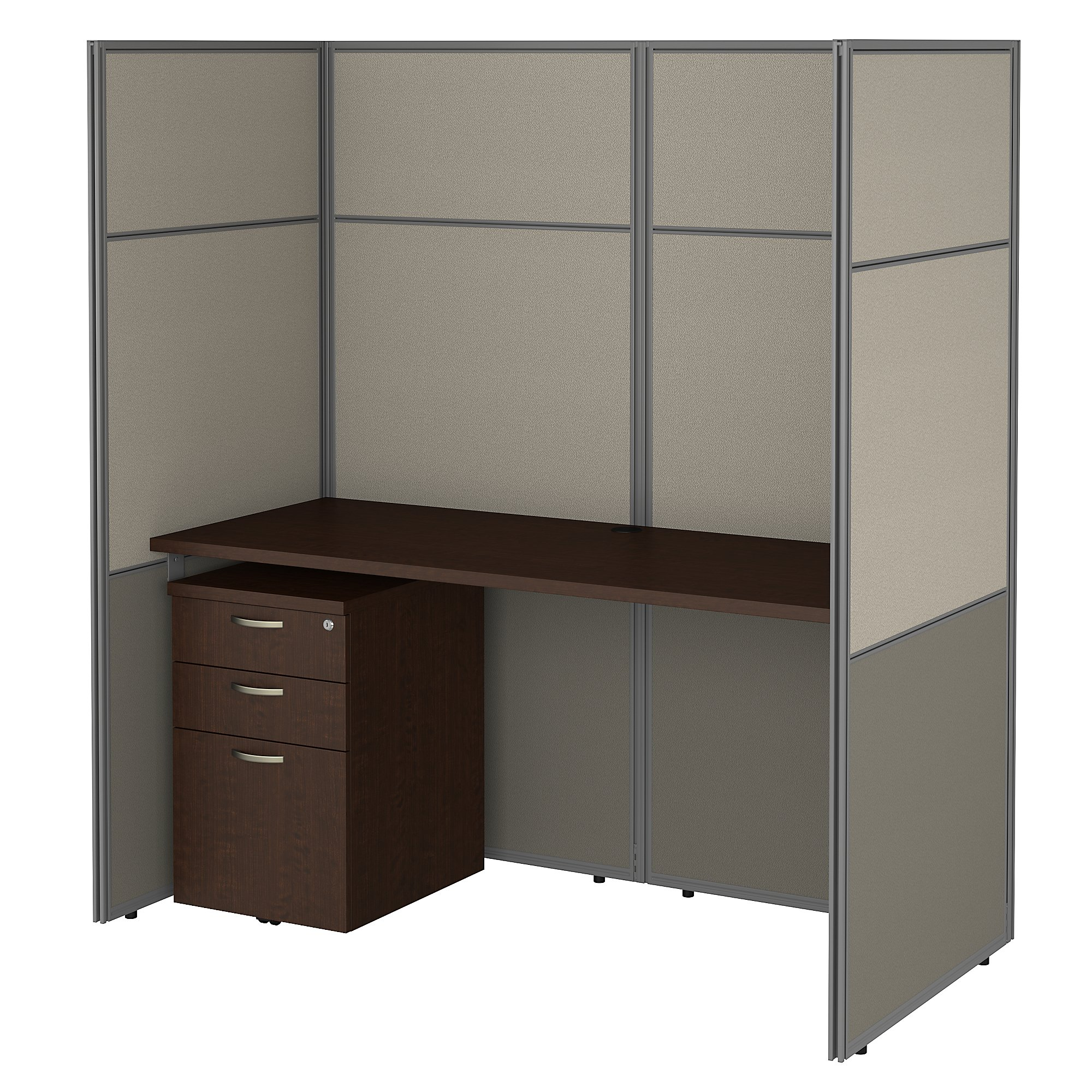 mocha cherry easy office closed cubicle workstation