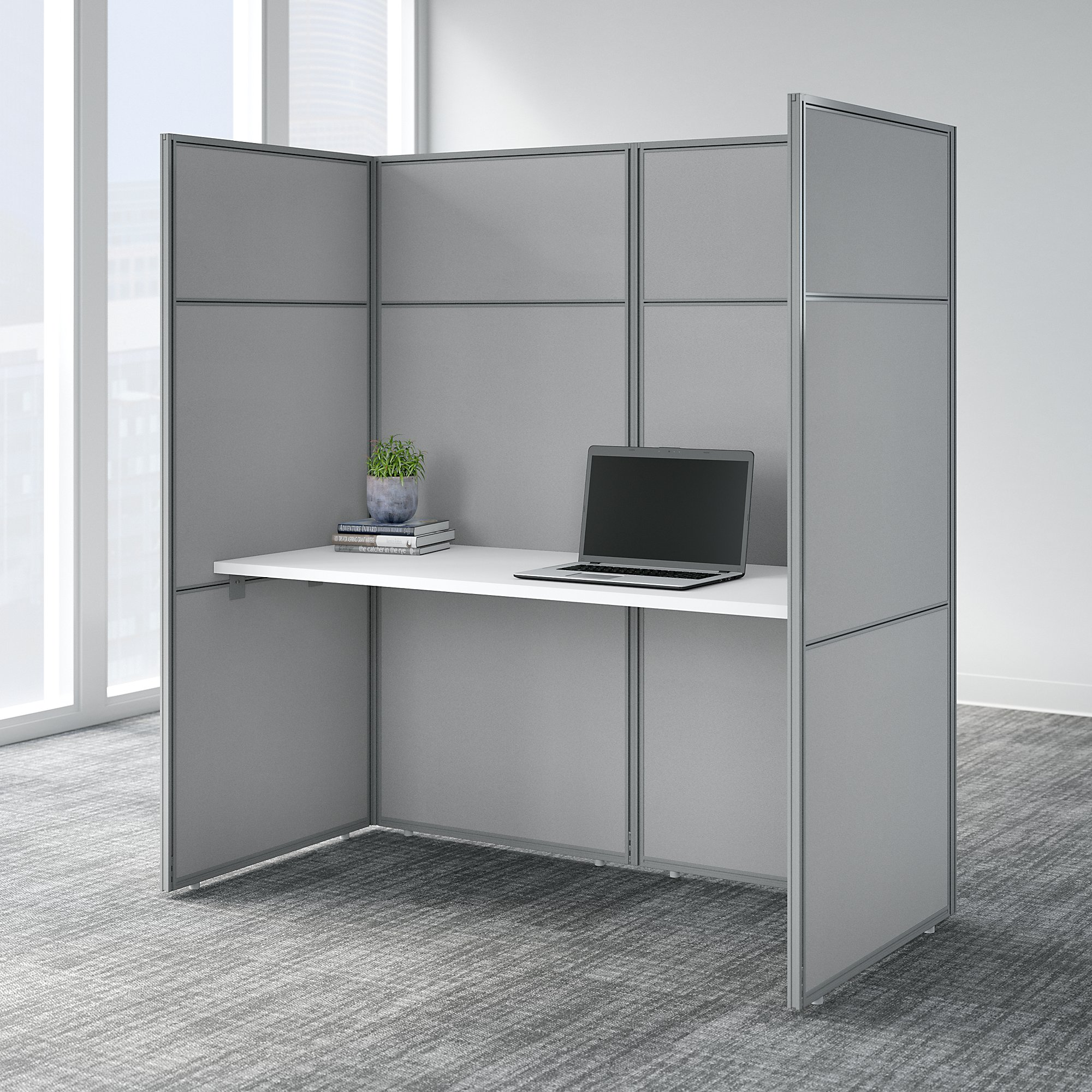easy office personal cubicle in pure white