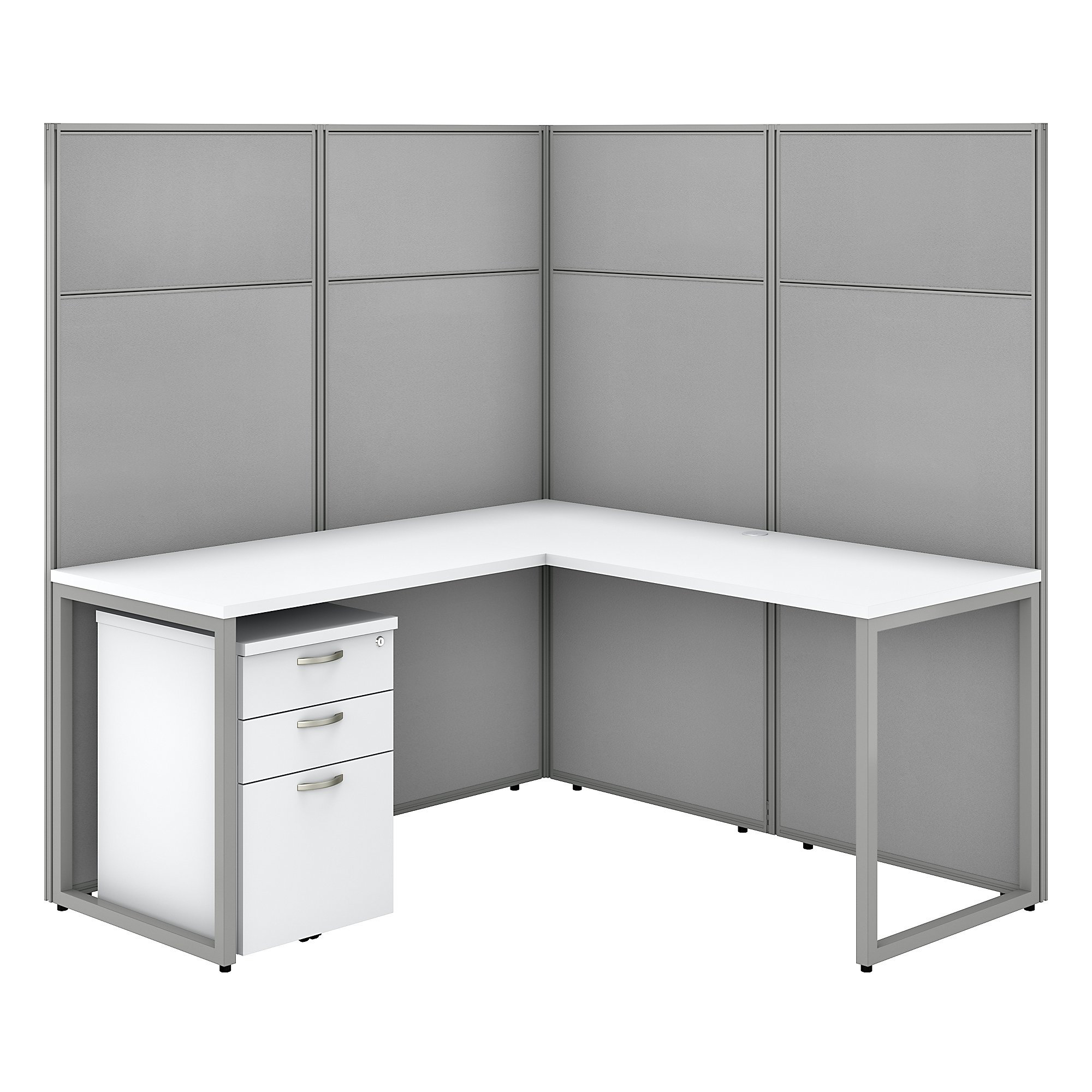 pure white easy office l shaped privacy cubicle