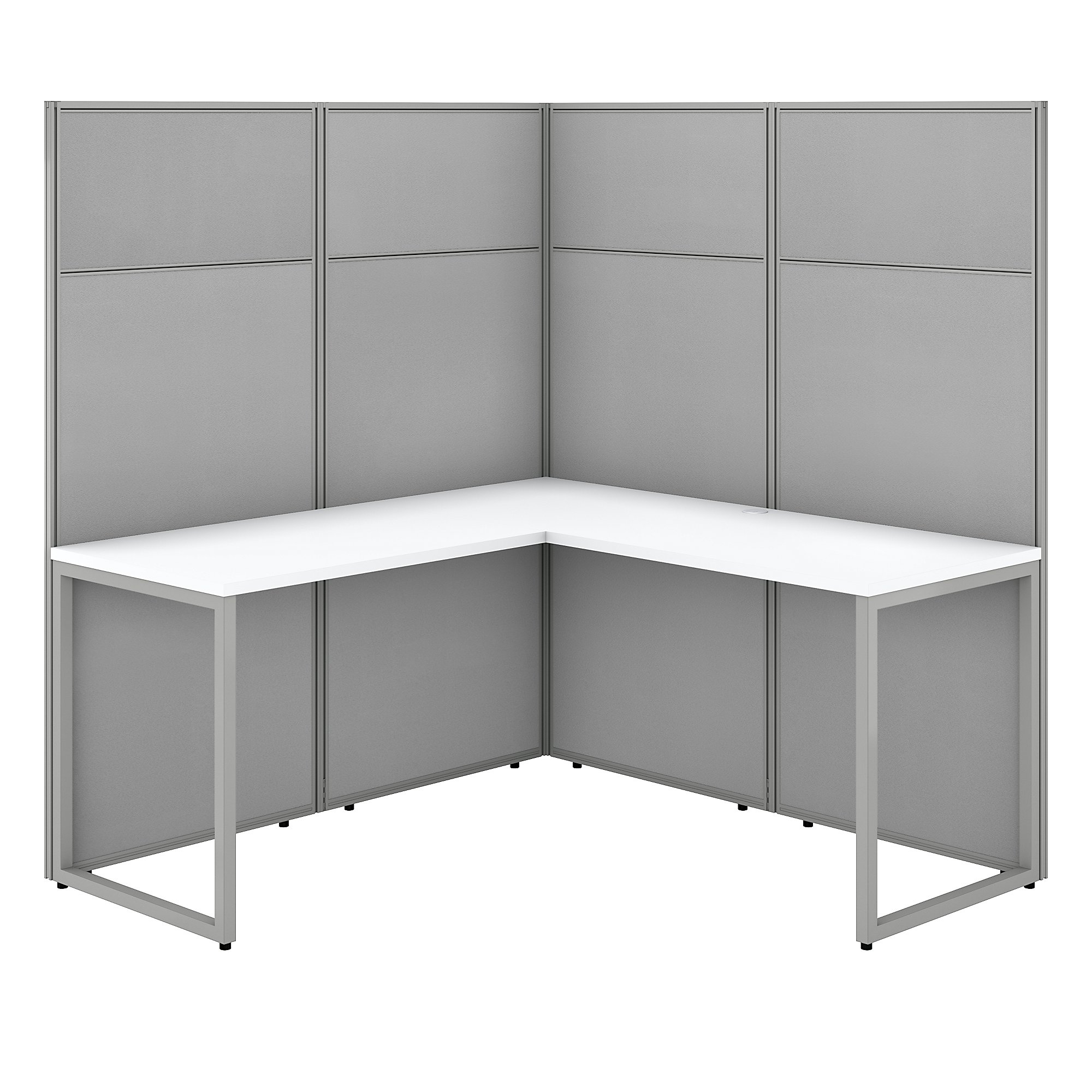 pure white bush business furniture easy office l shaped cubicle