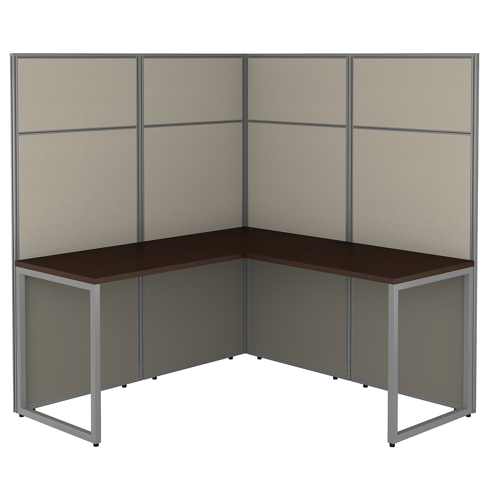 mocha cherry bush business furniture easy office l shaped cubicle