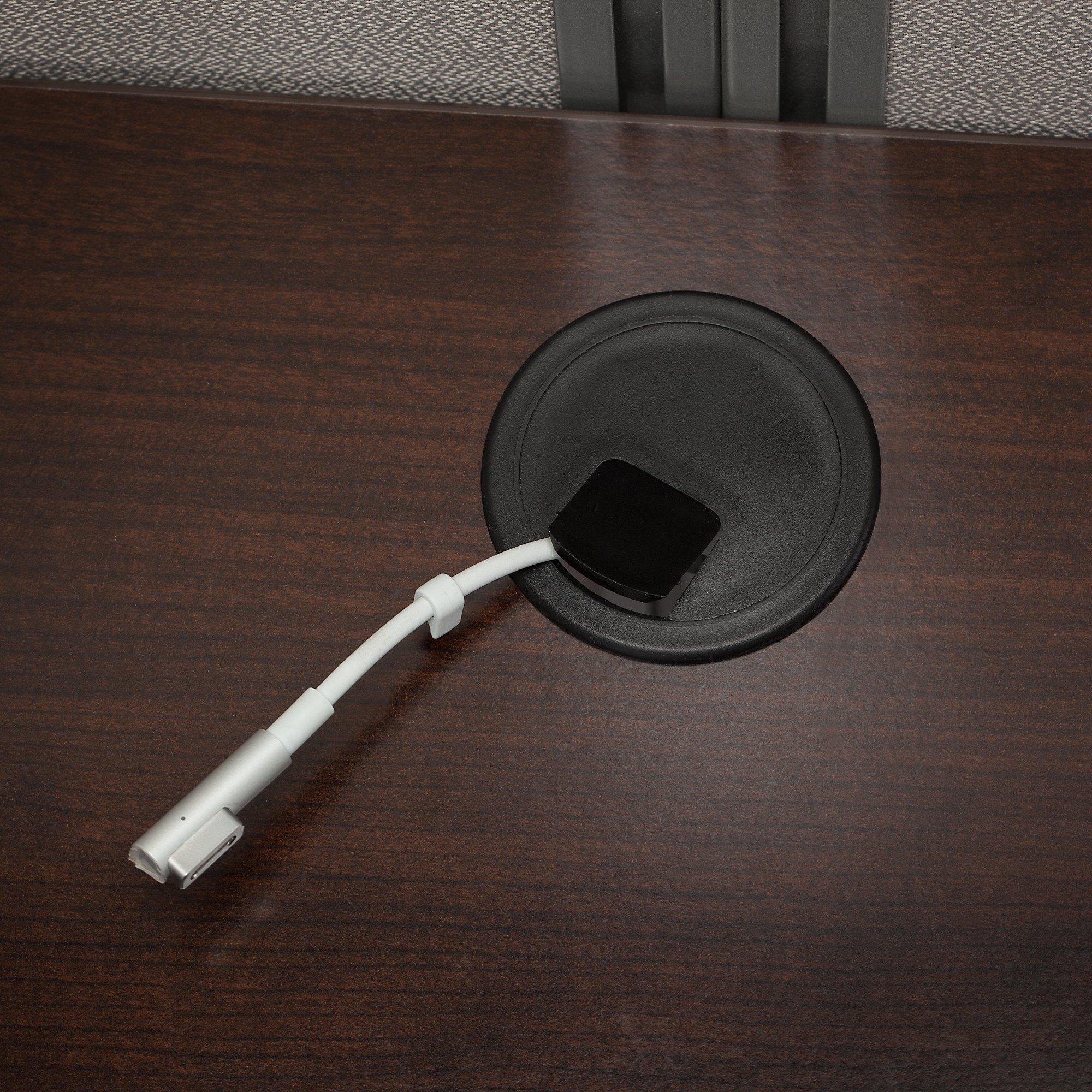 mocha cherry desk surface grommet