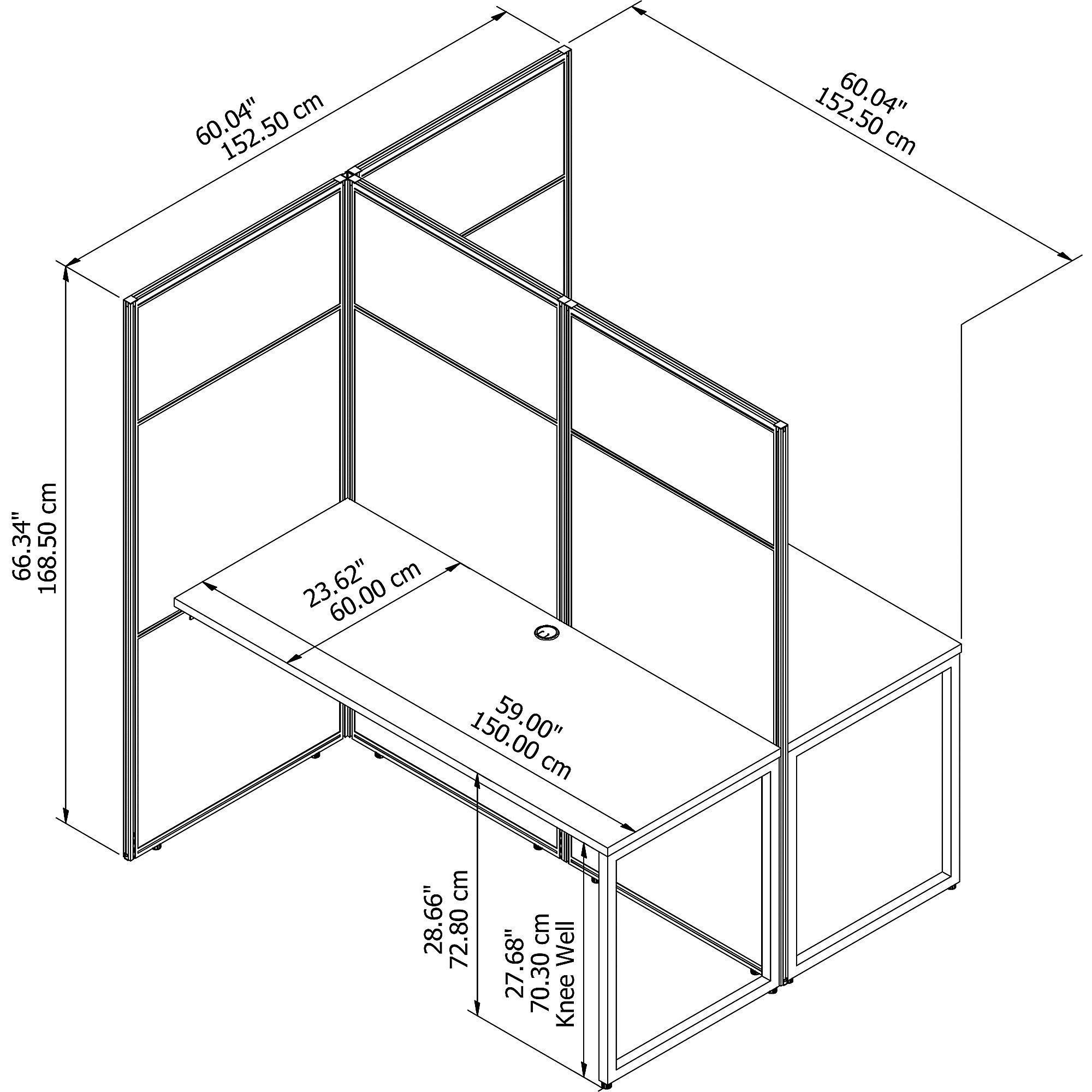 eodh460 cubicle dimensions