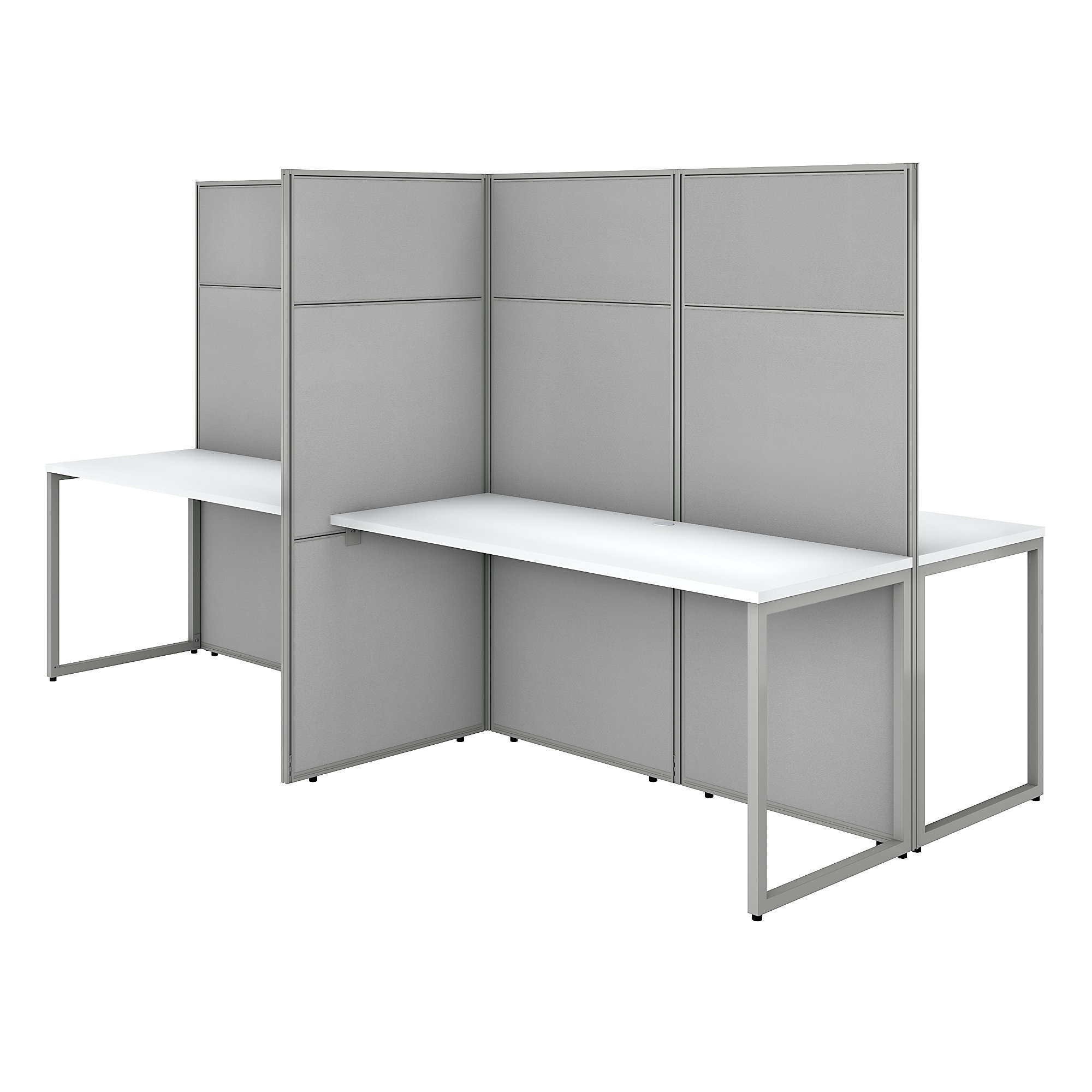 pure whiteeasy office 4 person privacy workstation
