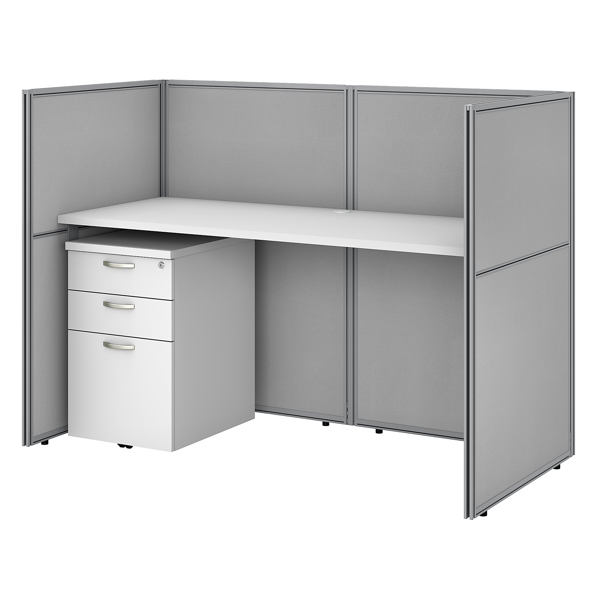 easy office single user cubicle with storage