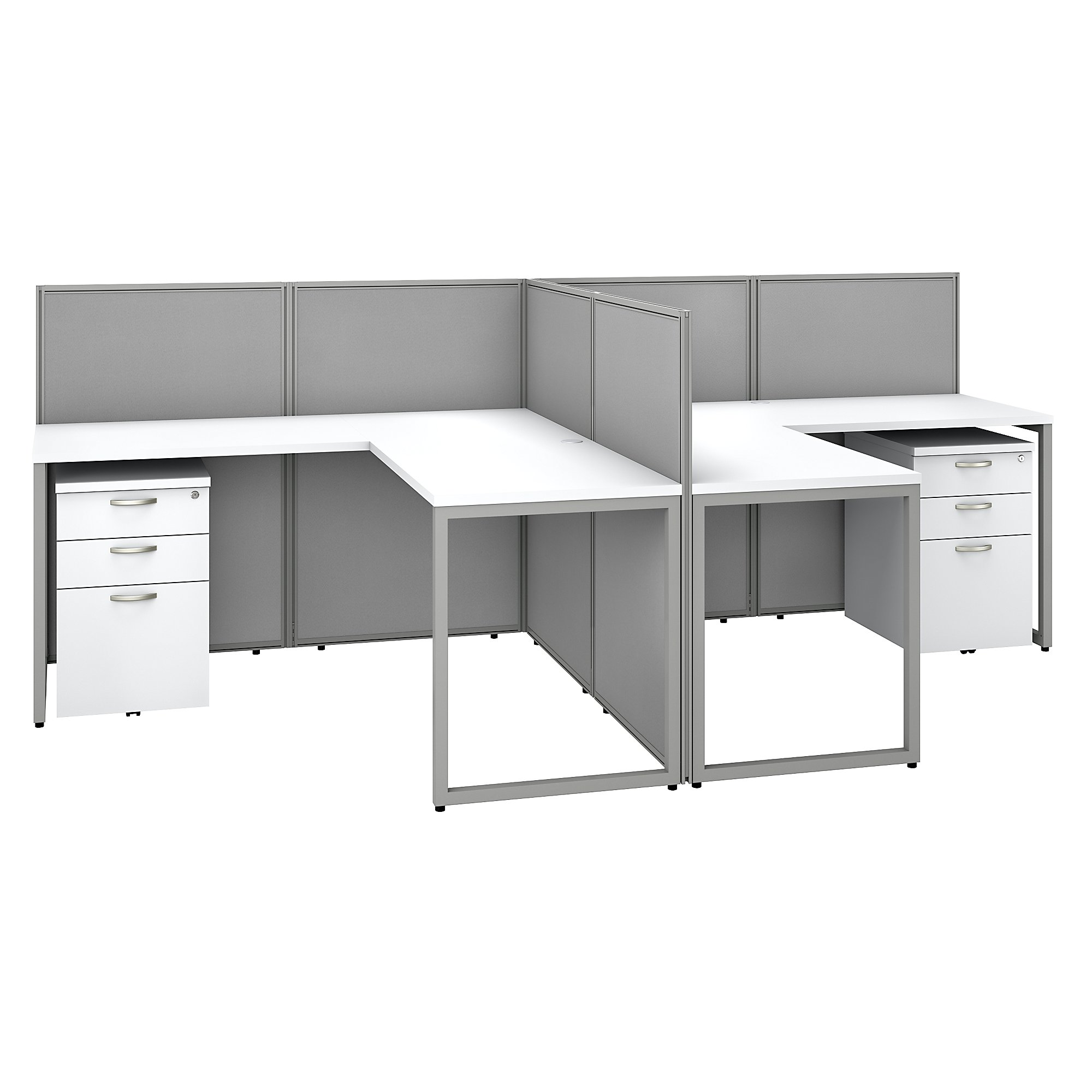 multi user easy office cubicle in white