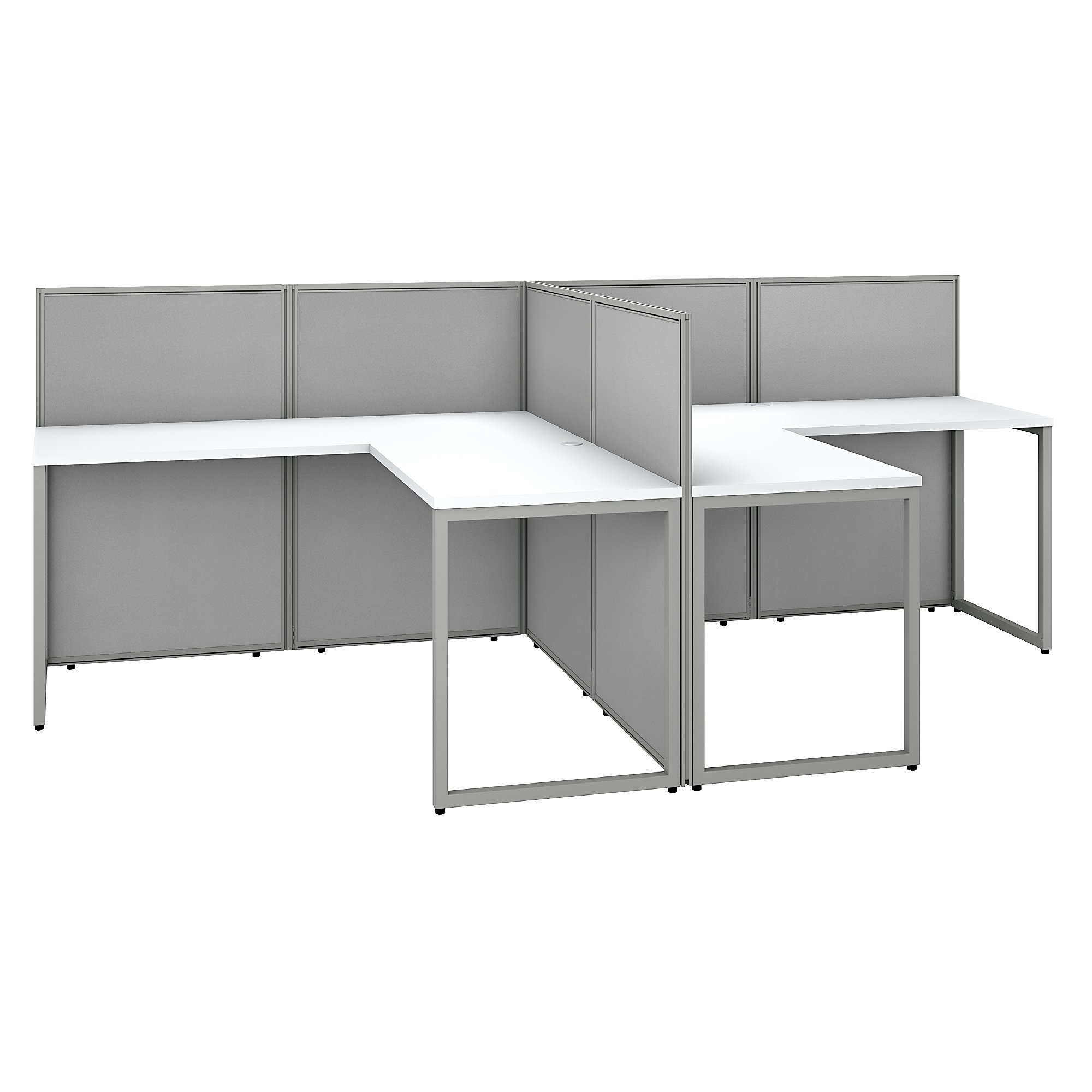 white easy office 2 person cubicle