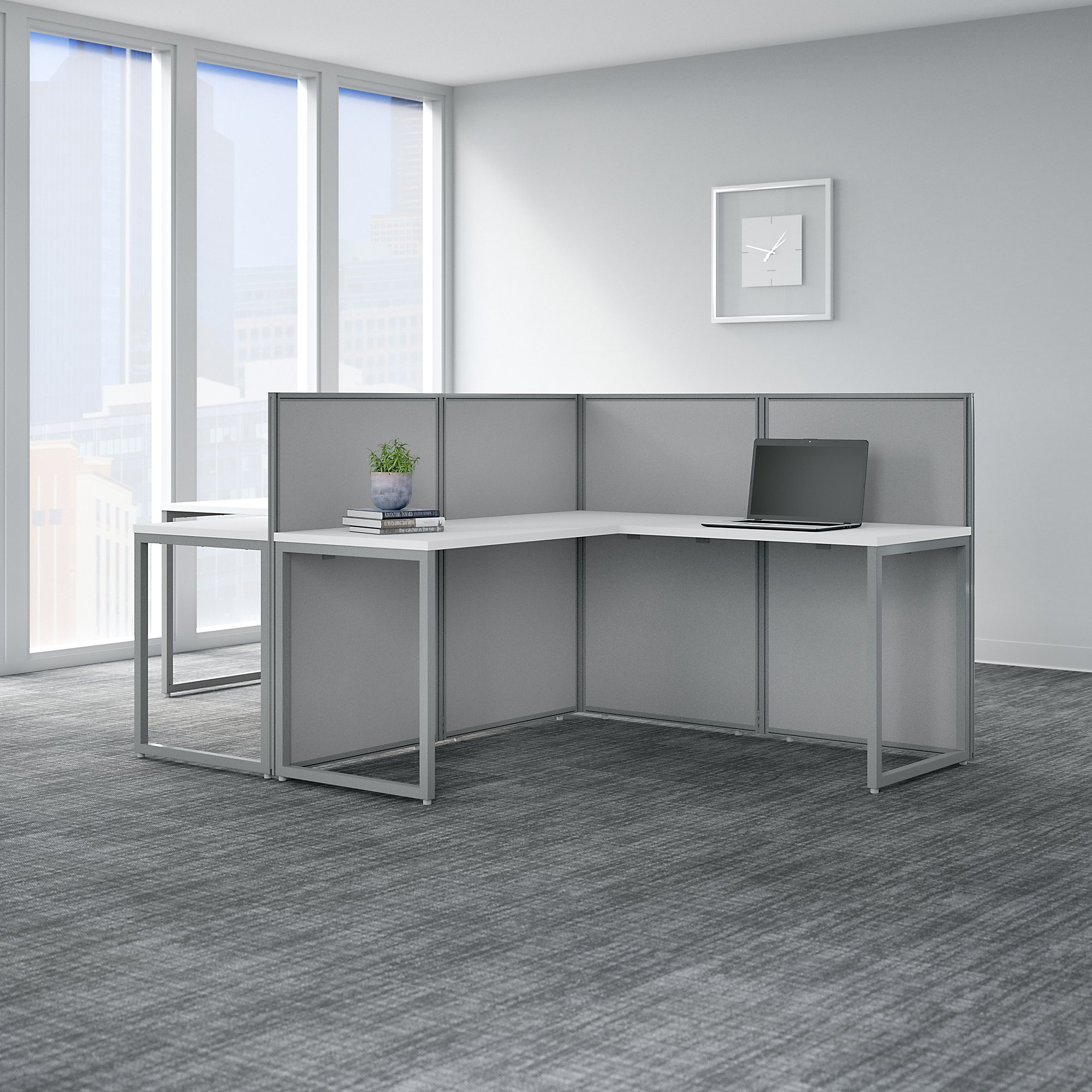bush business furniture easy office 2 person cubicle