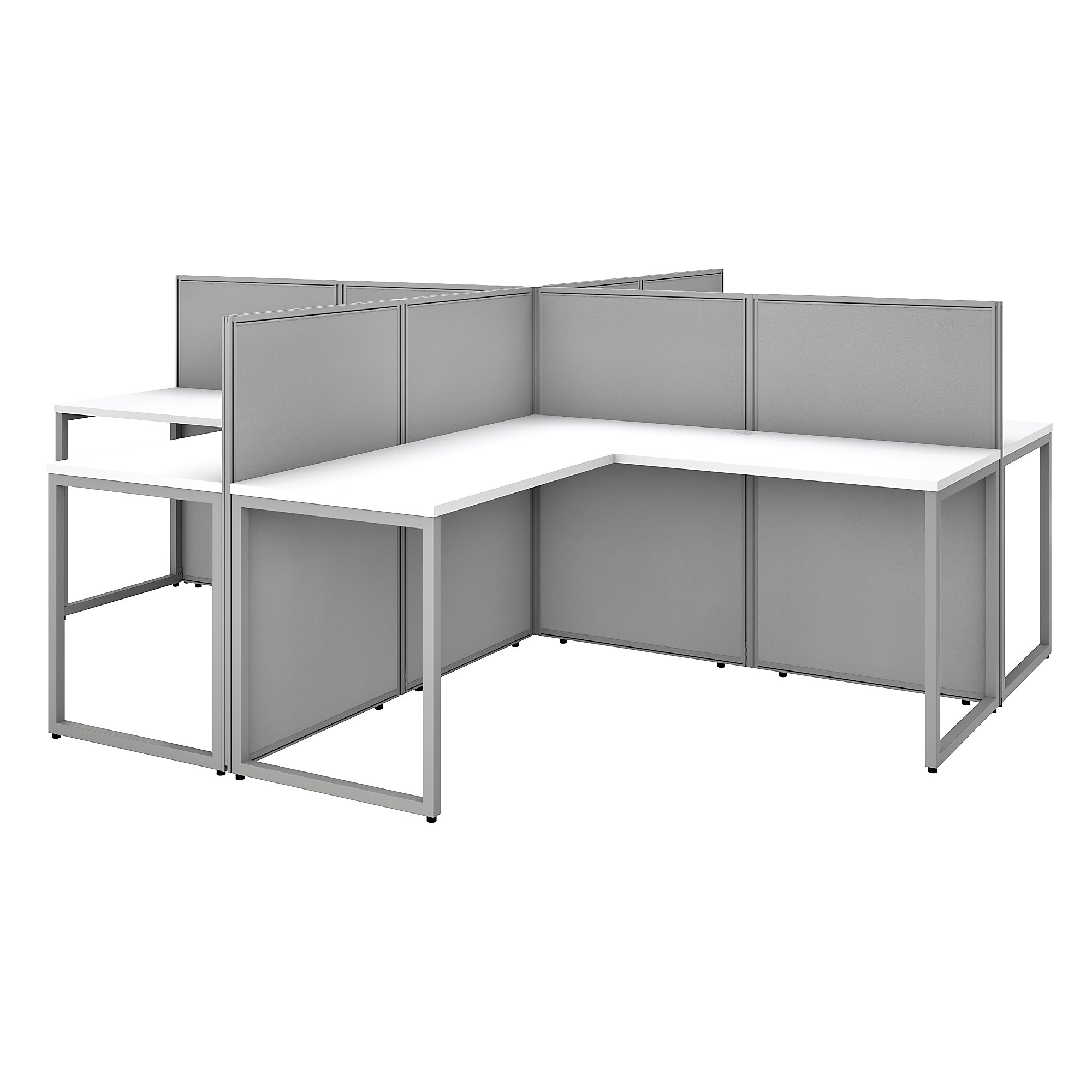4 person cubicle configuration by bush business furniture