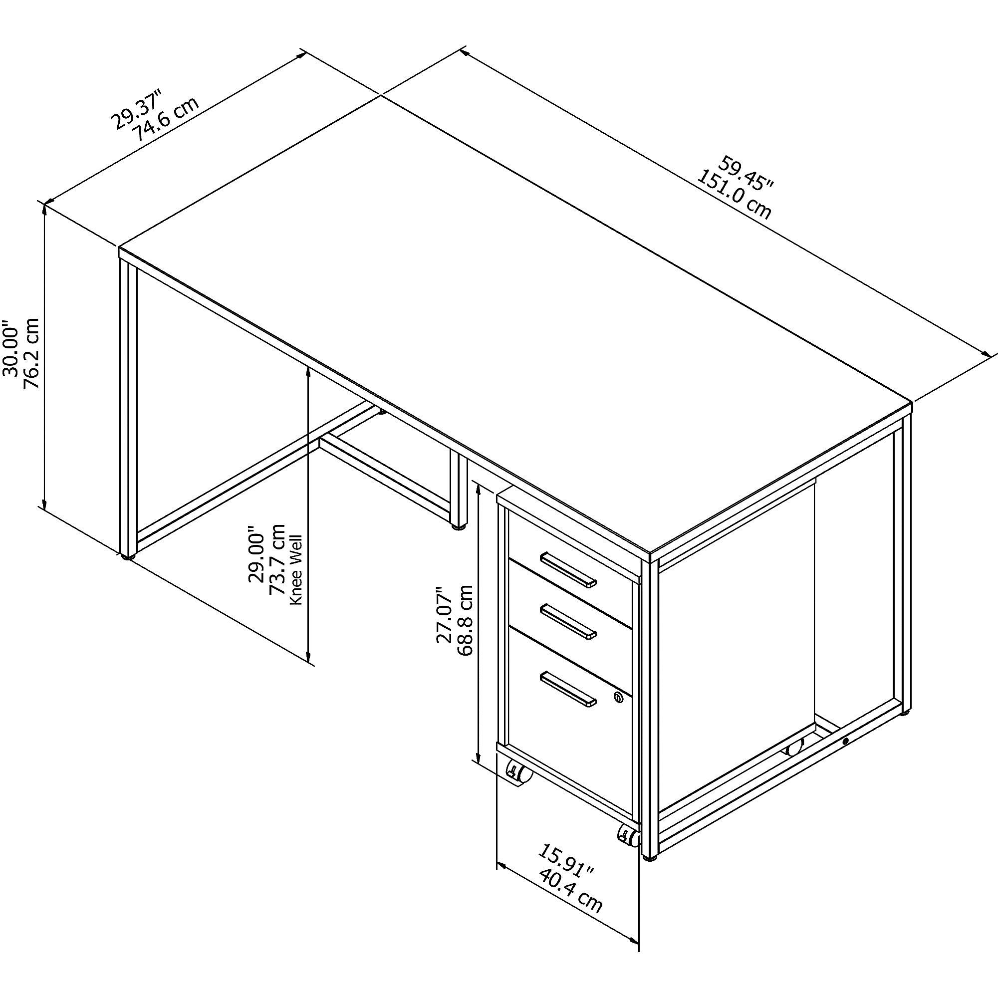 method desk dimensions
