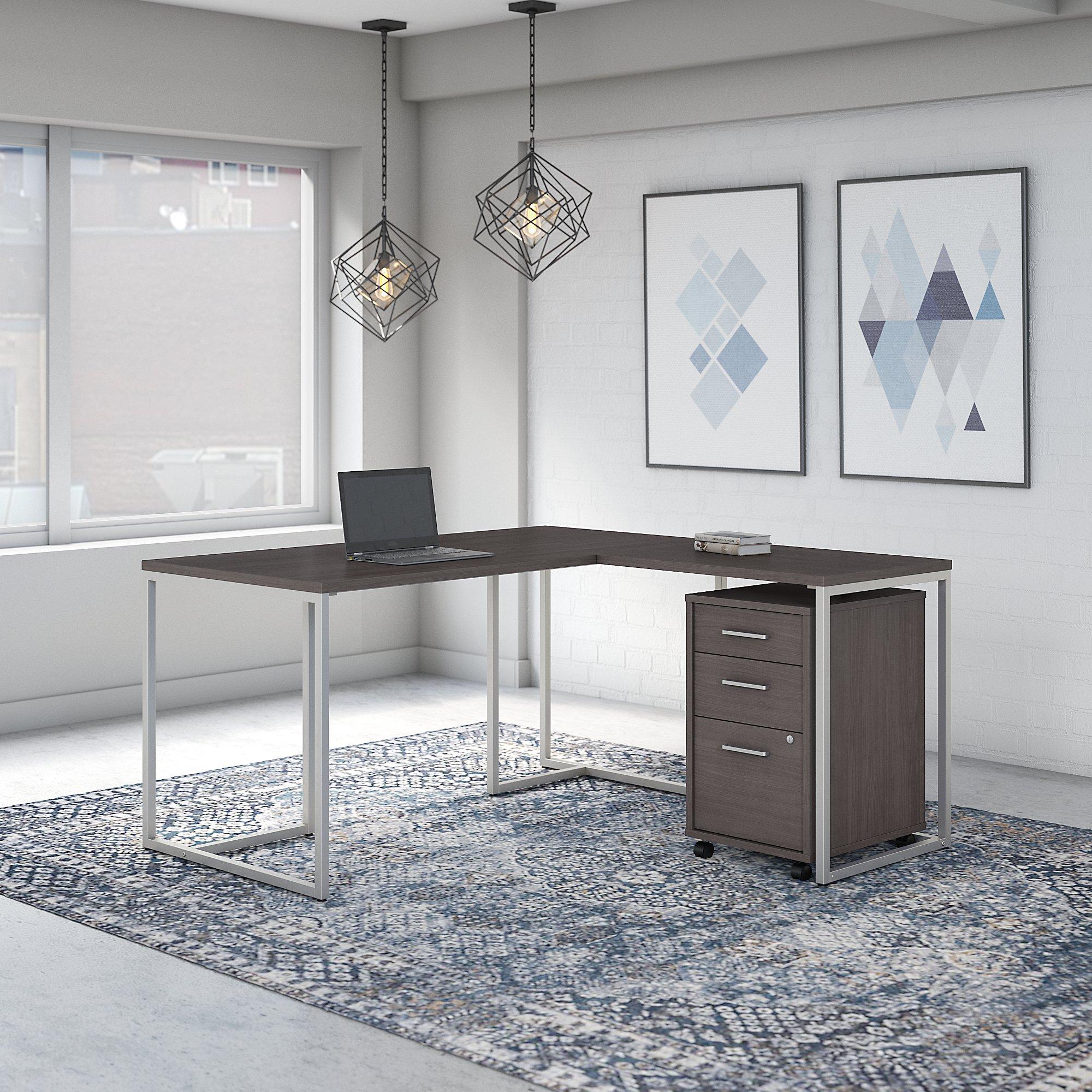 storm gray method l desk with storage