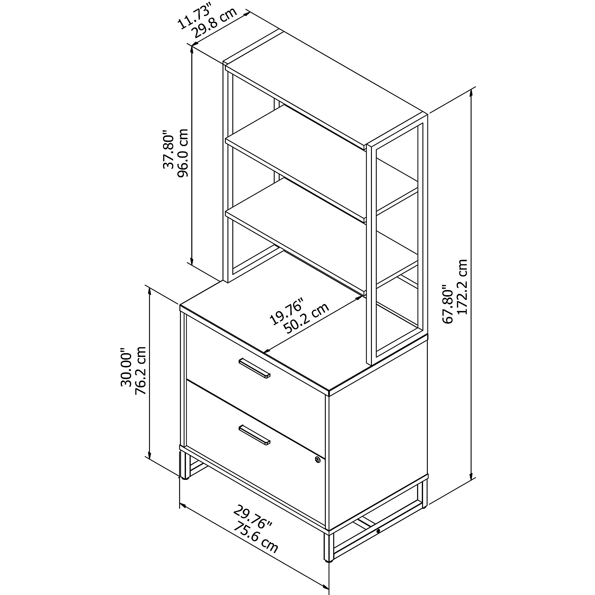 office by kathy ireland wall cabinet dimensions