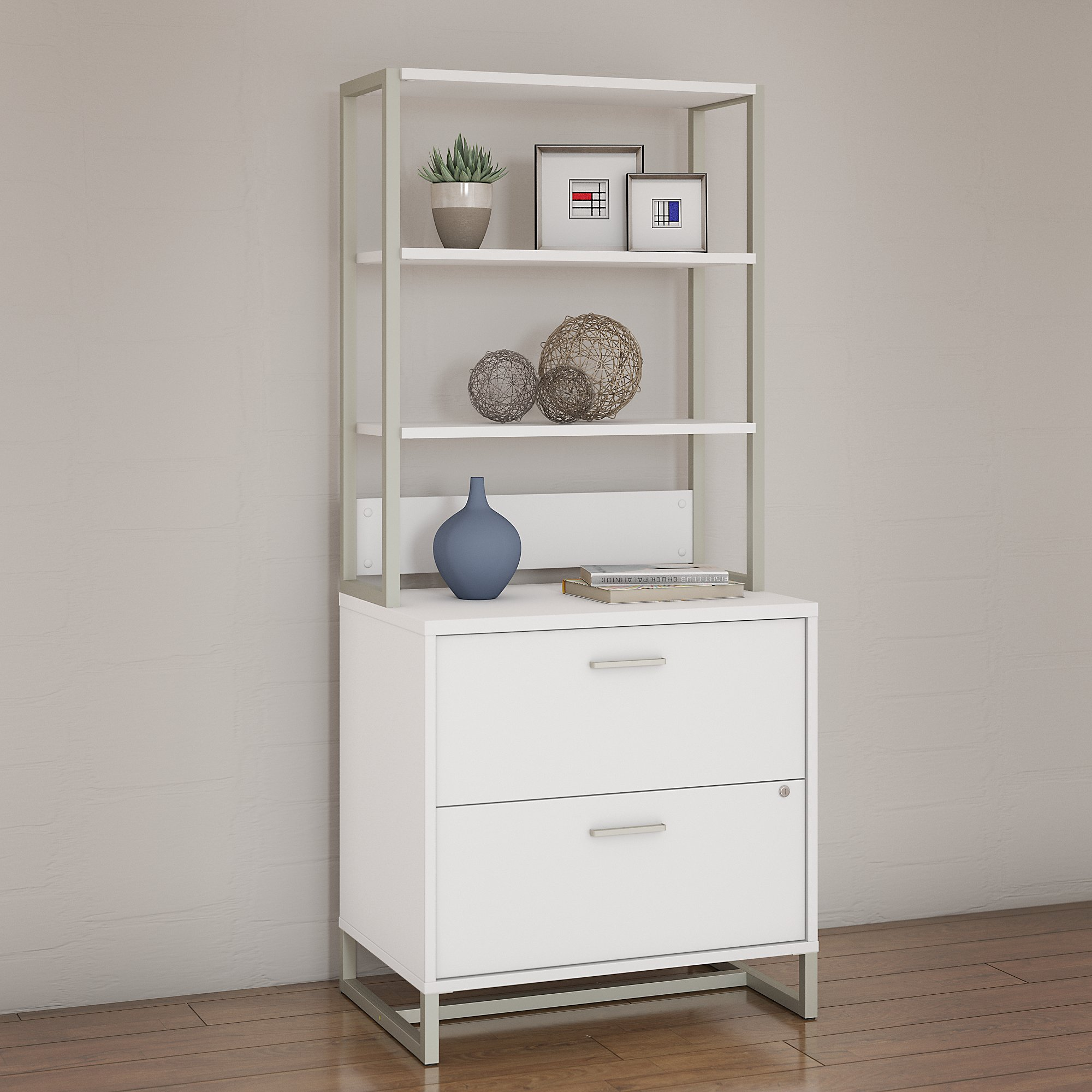 office by kathy ireland wall cabinet in white