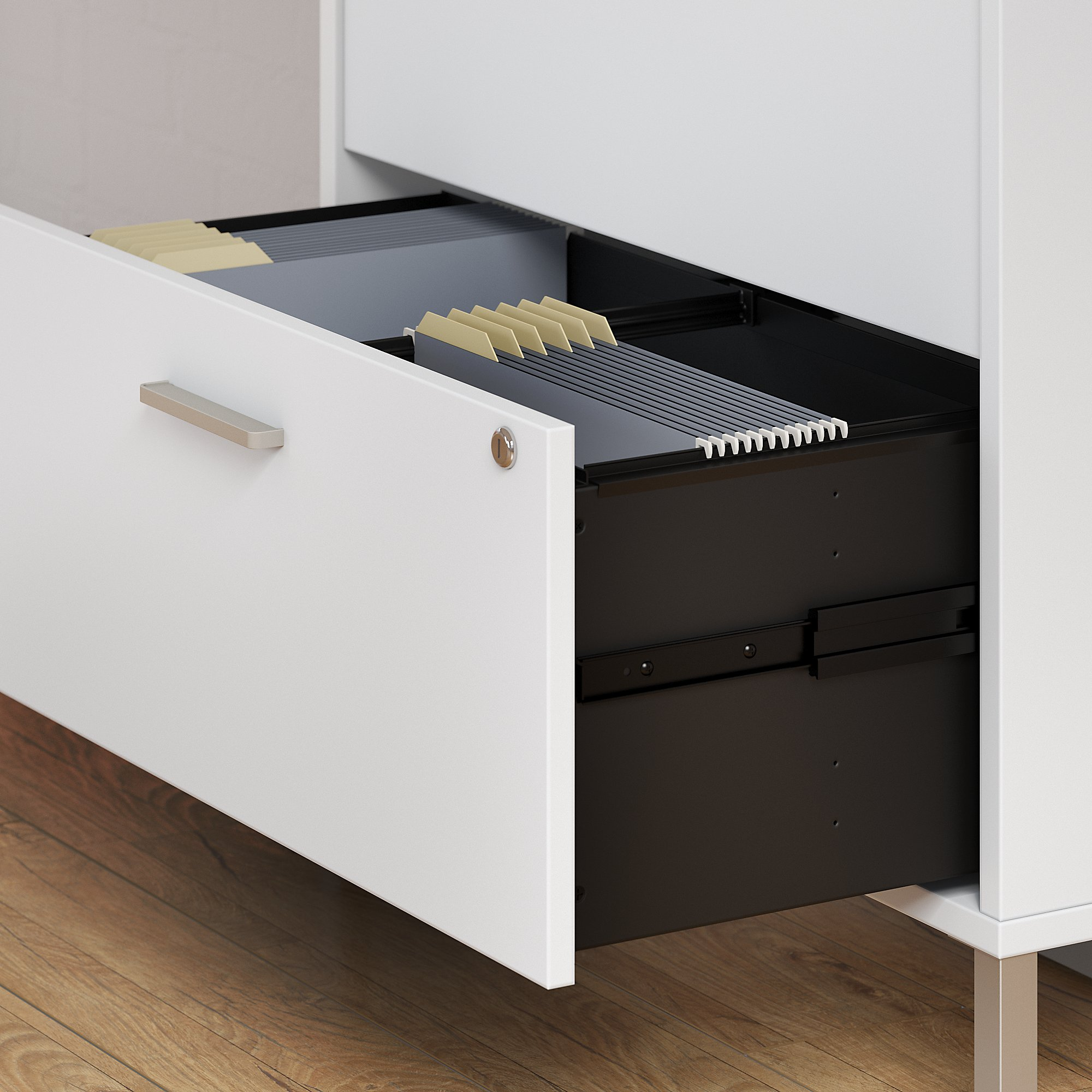 office by kathy ireland wall cabinet drawer