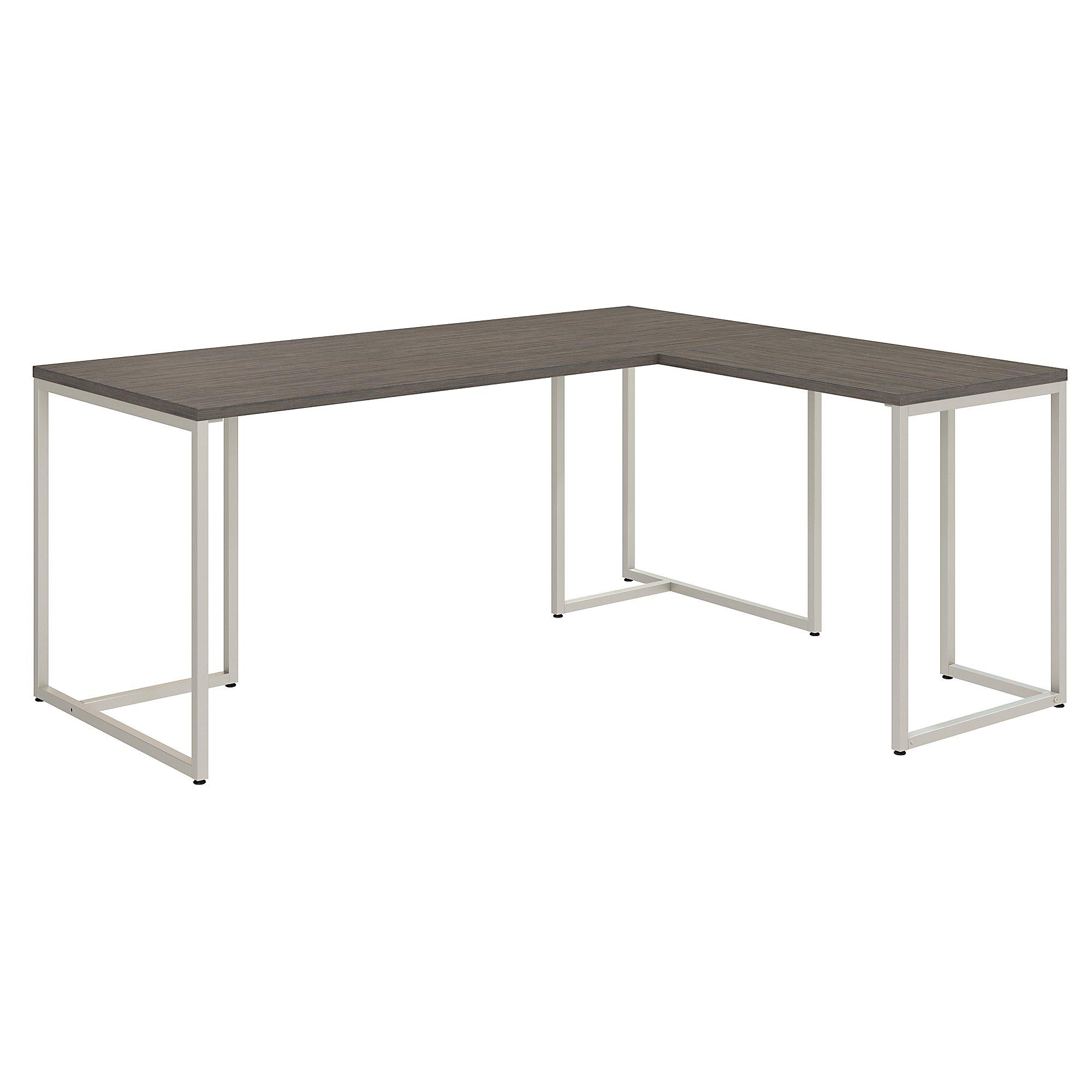 reversible l shaped method desk in mocha