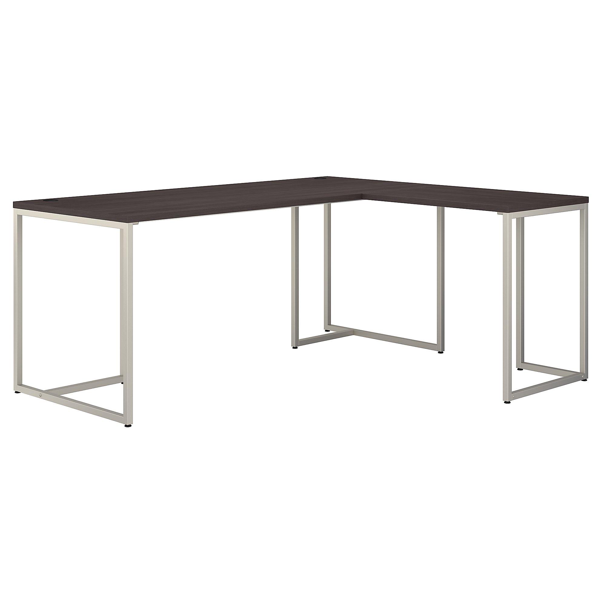 reversible l shaped method desk in storm gray