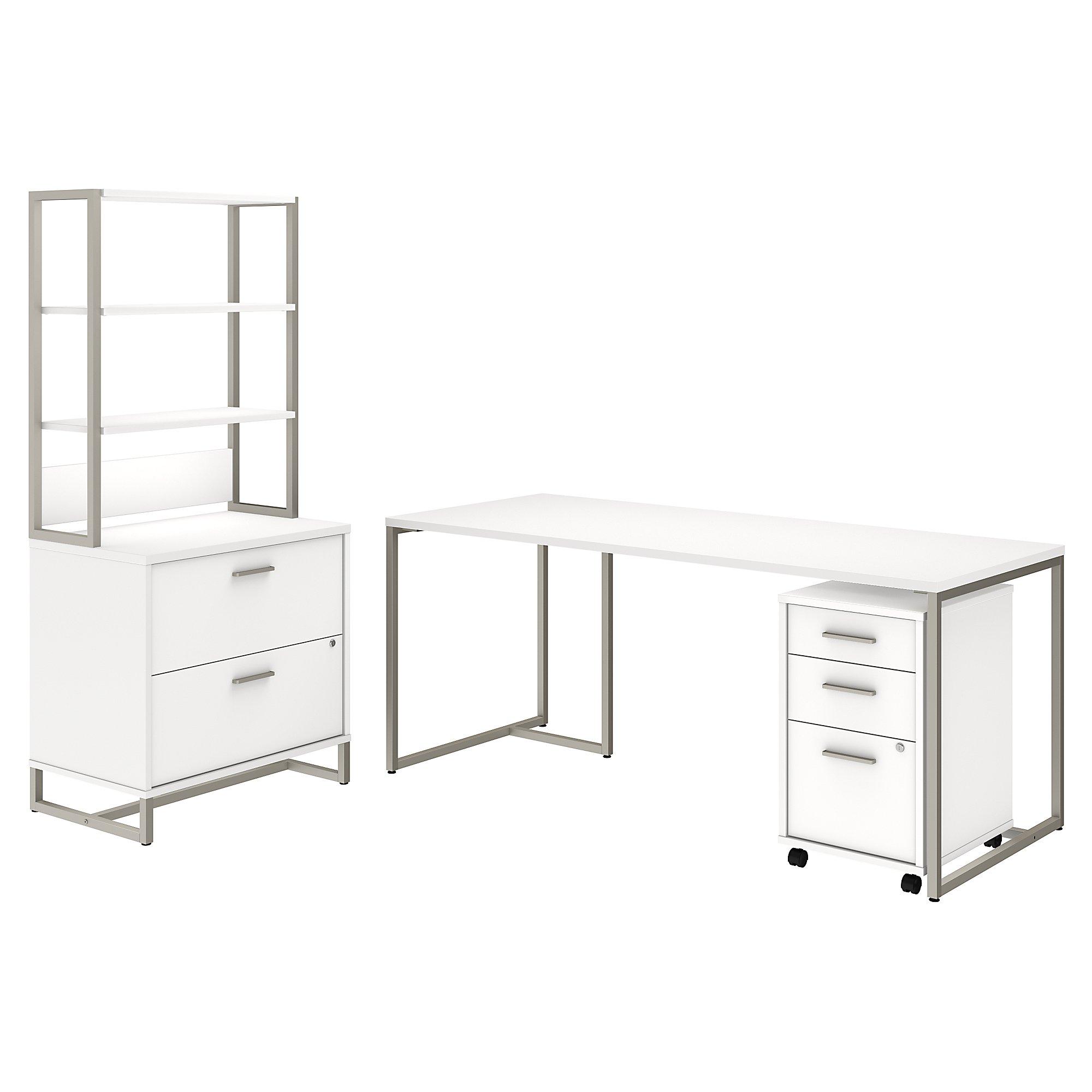 white kathy ireland method office furniture set