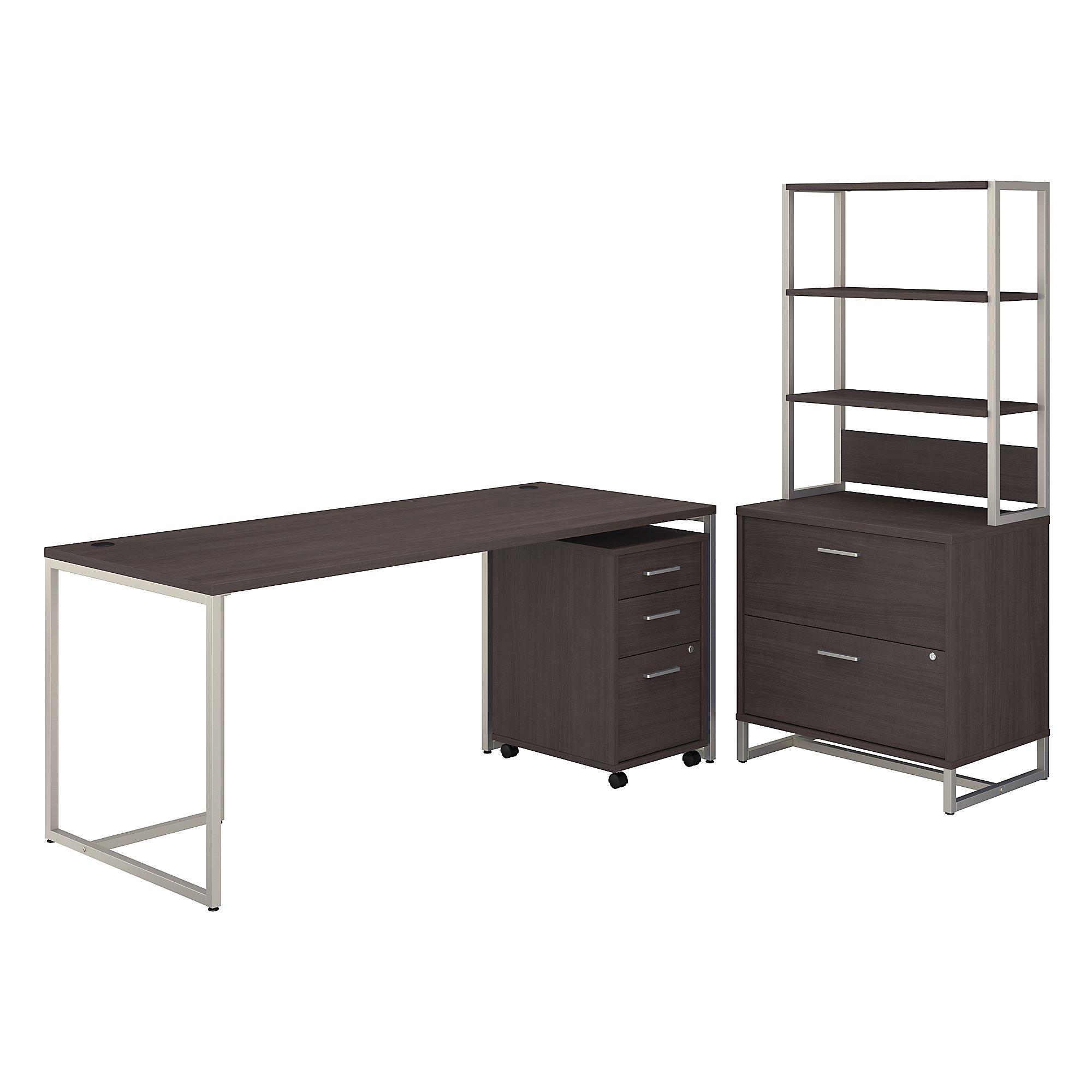 kathy ireland method office furniture set in storm gray