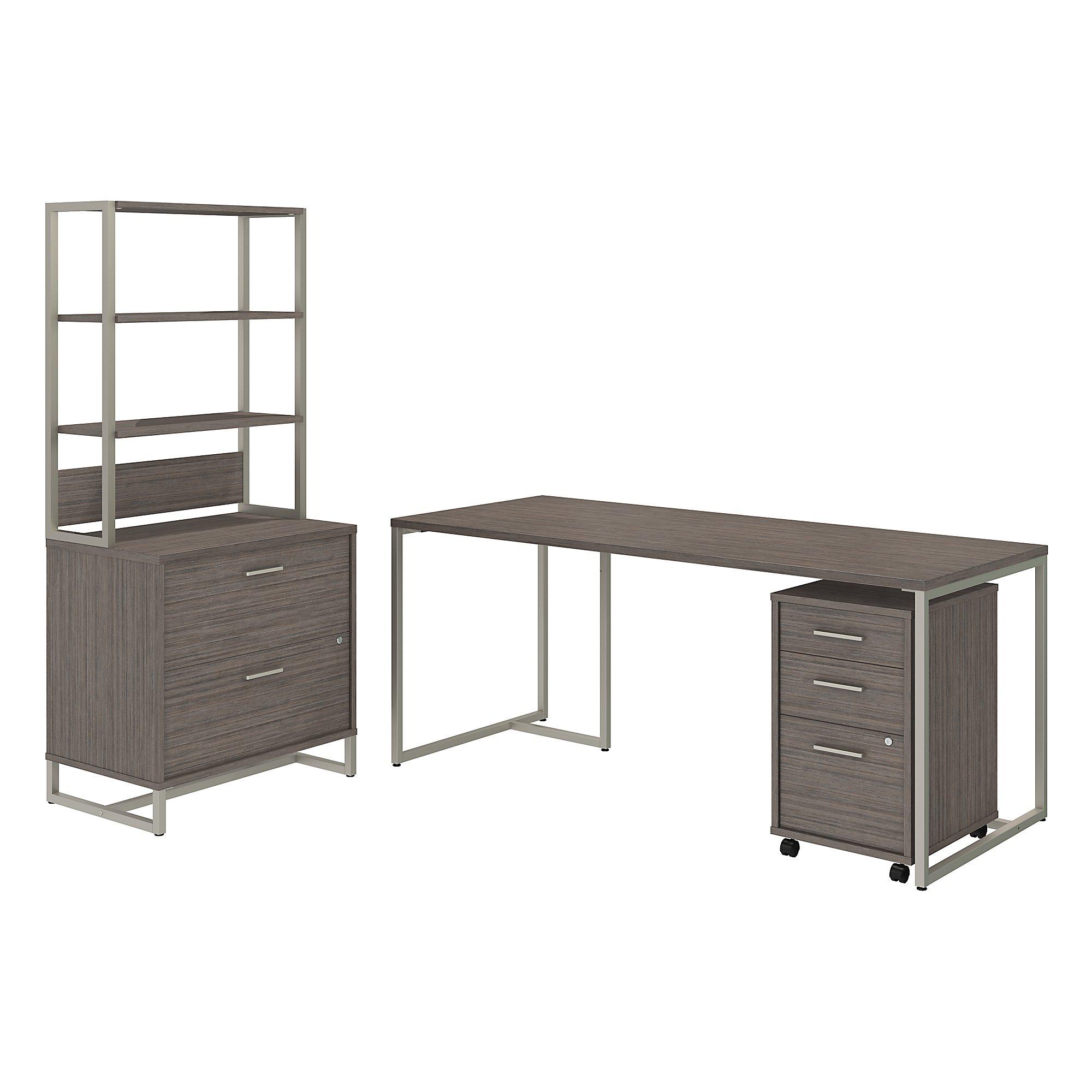 kathy ireland method office furniture set in cocoa