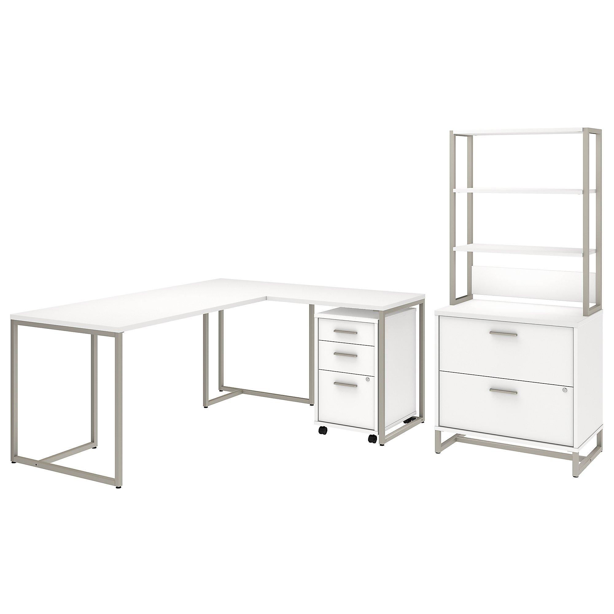white kathy ireland method executive furniture set