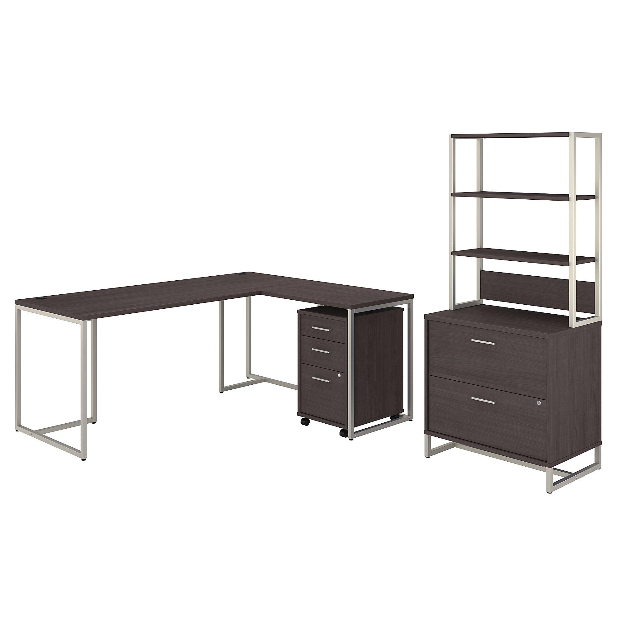 kathy ireland method executive furniture set in storm gray