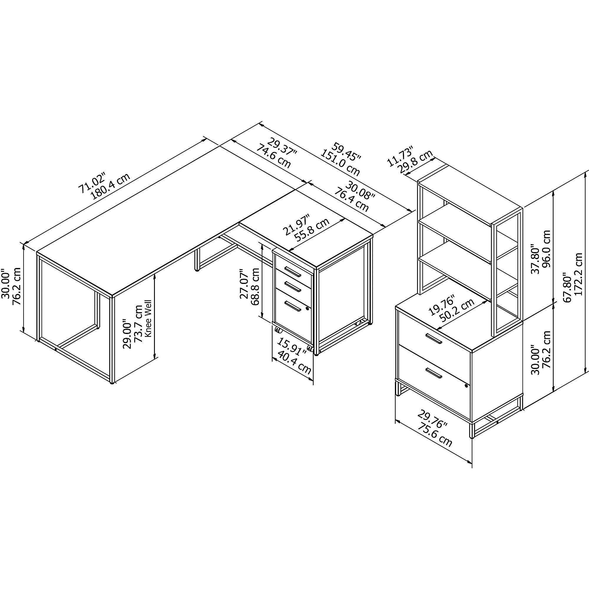 kathy ireland method executive furniture set dimensions