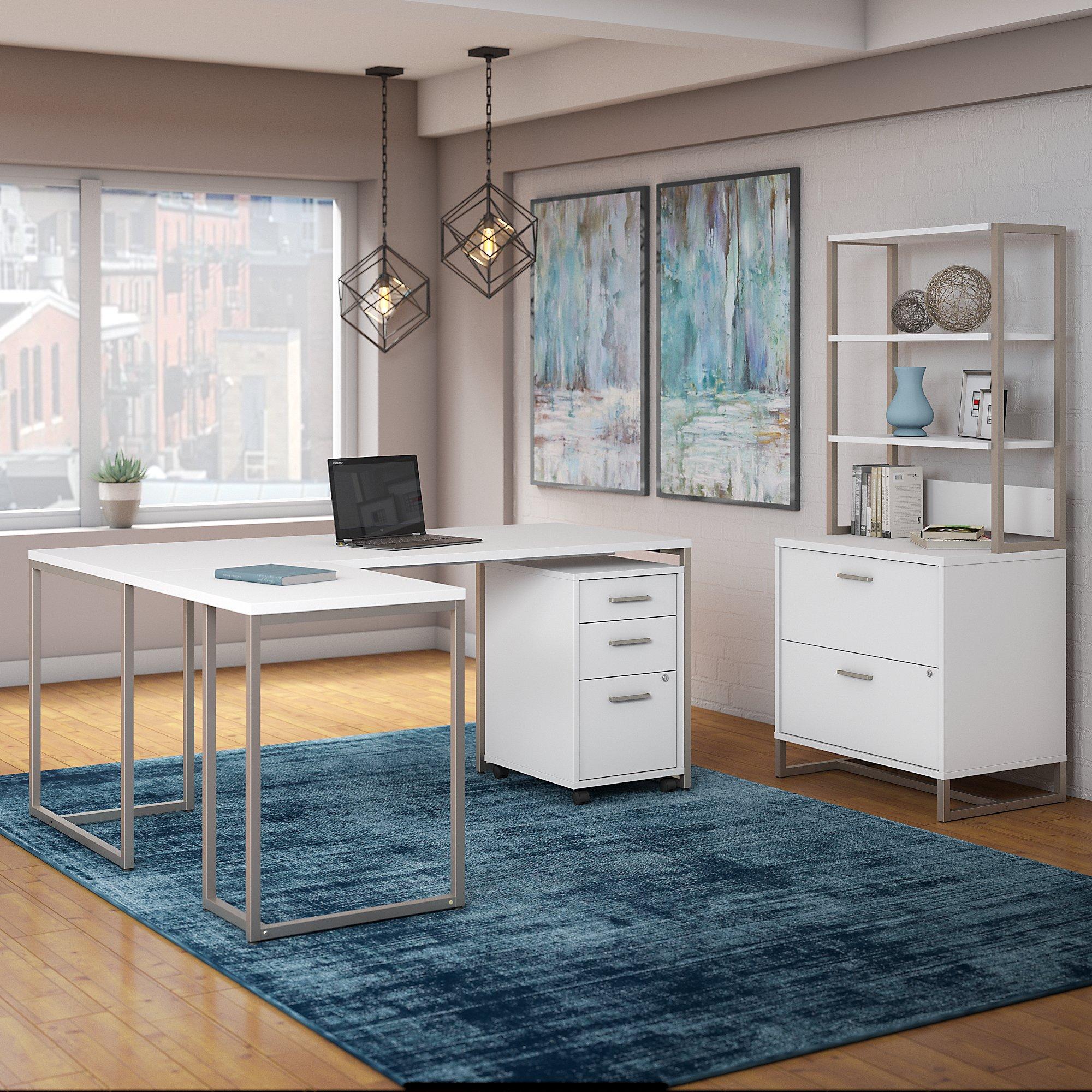 kathy ireland method executive furniture set in white