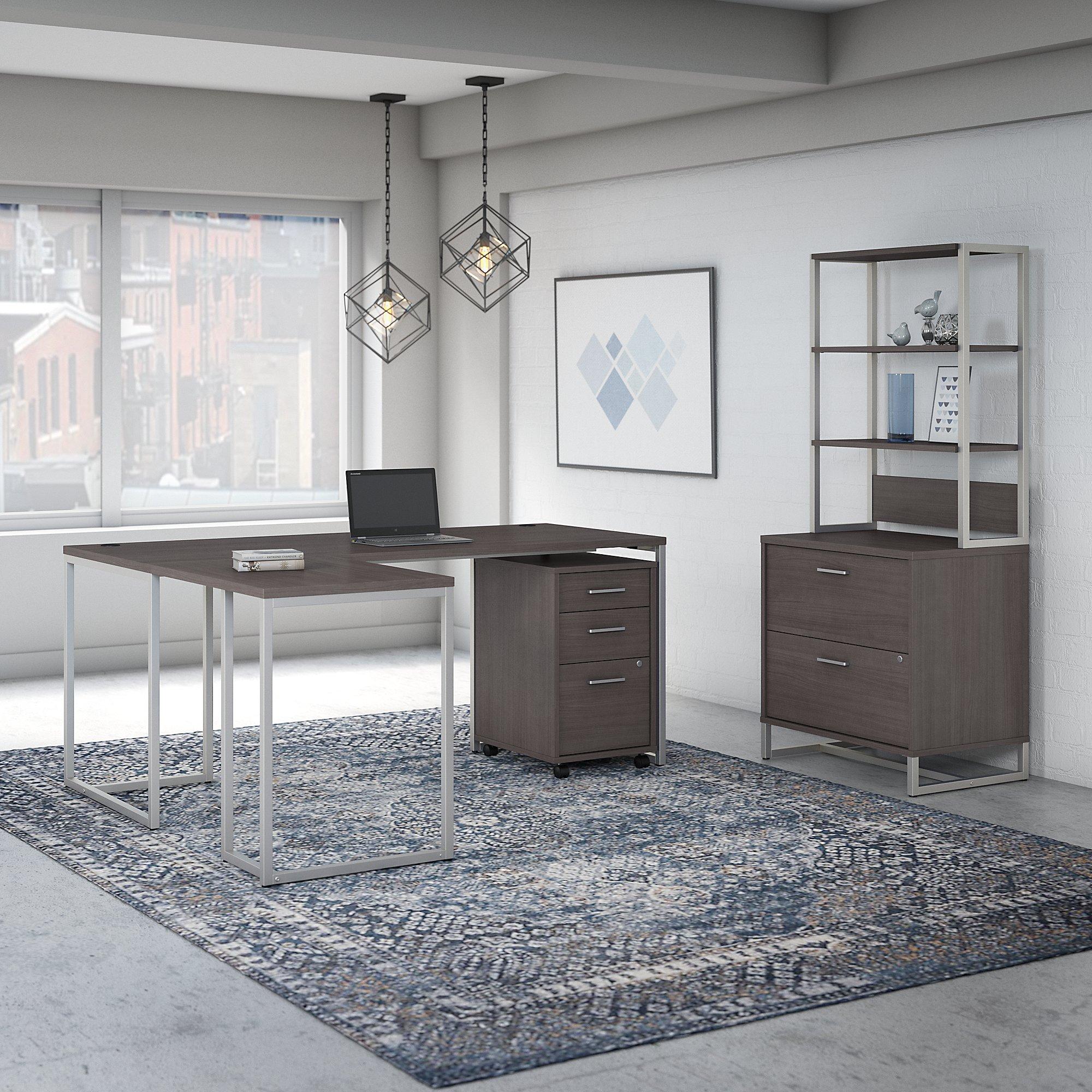 storm gray kathy ireland method executive furniture set