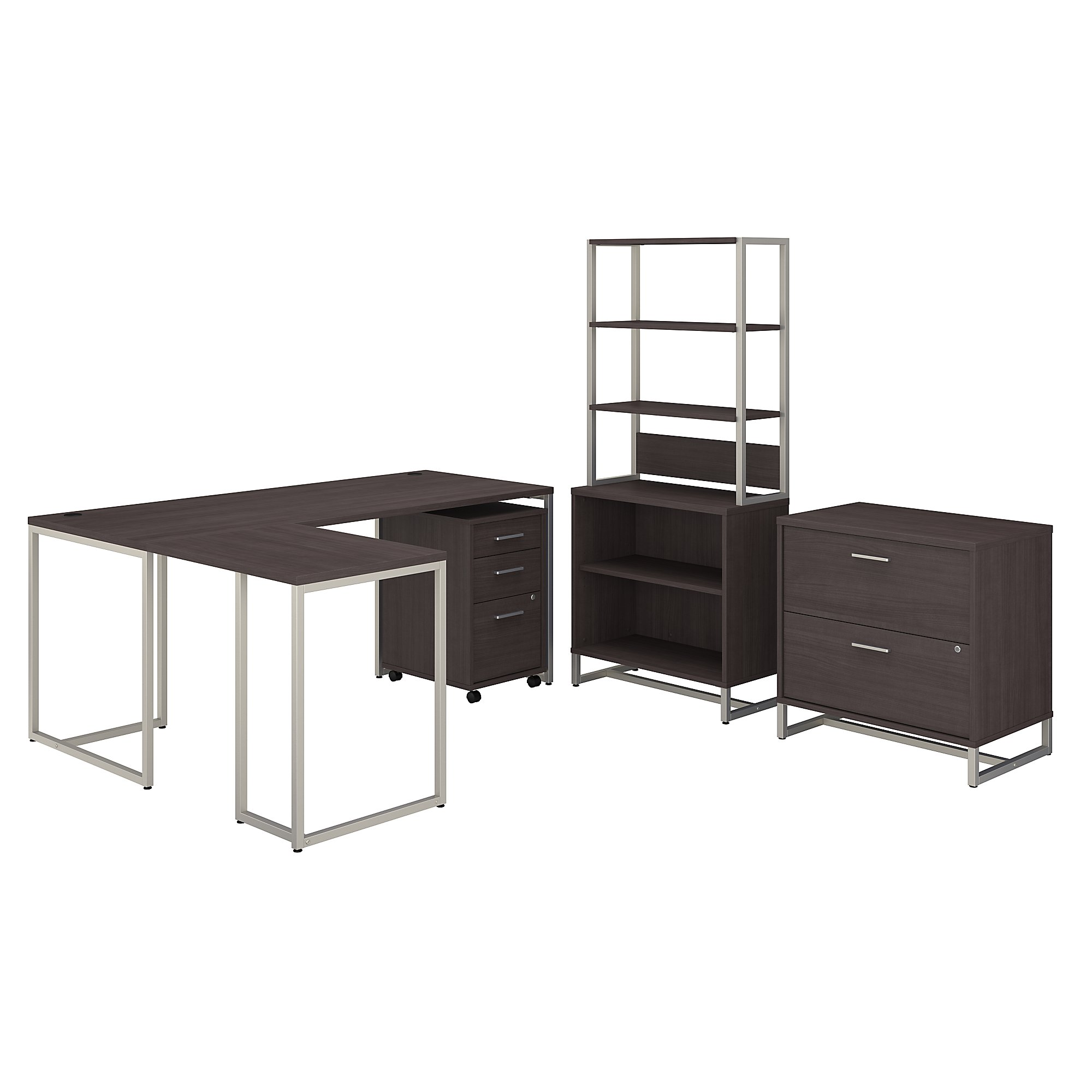 method collection office furniture set in storm gray