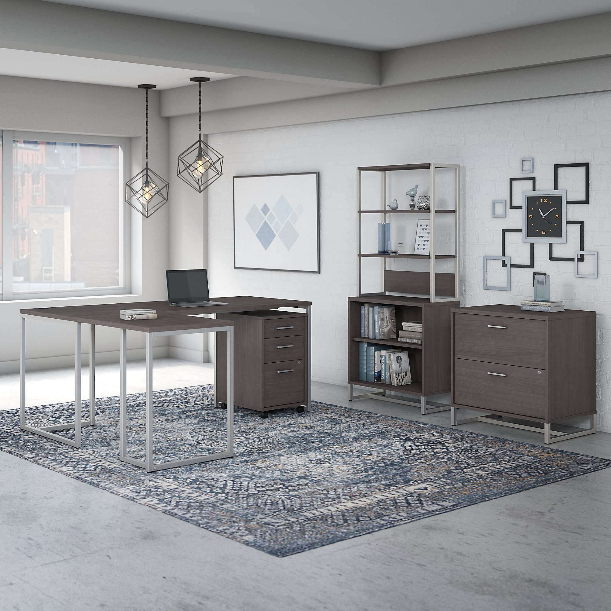 storm gray method collection office furniture set
