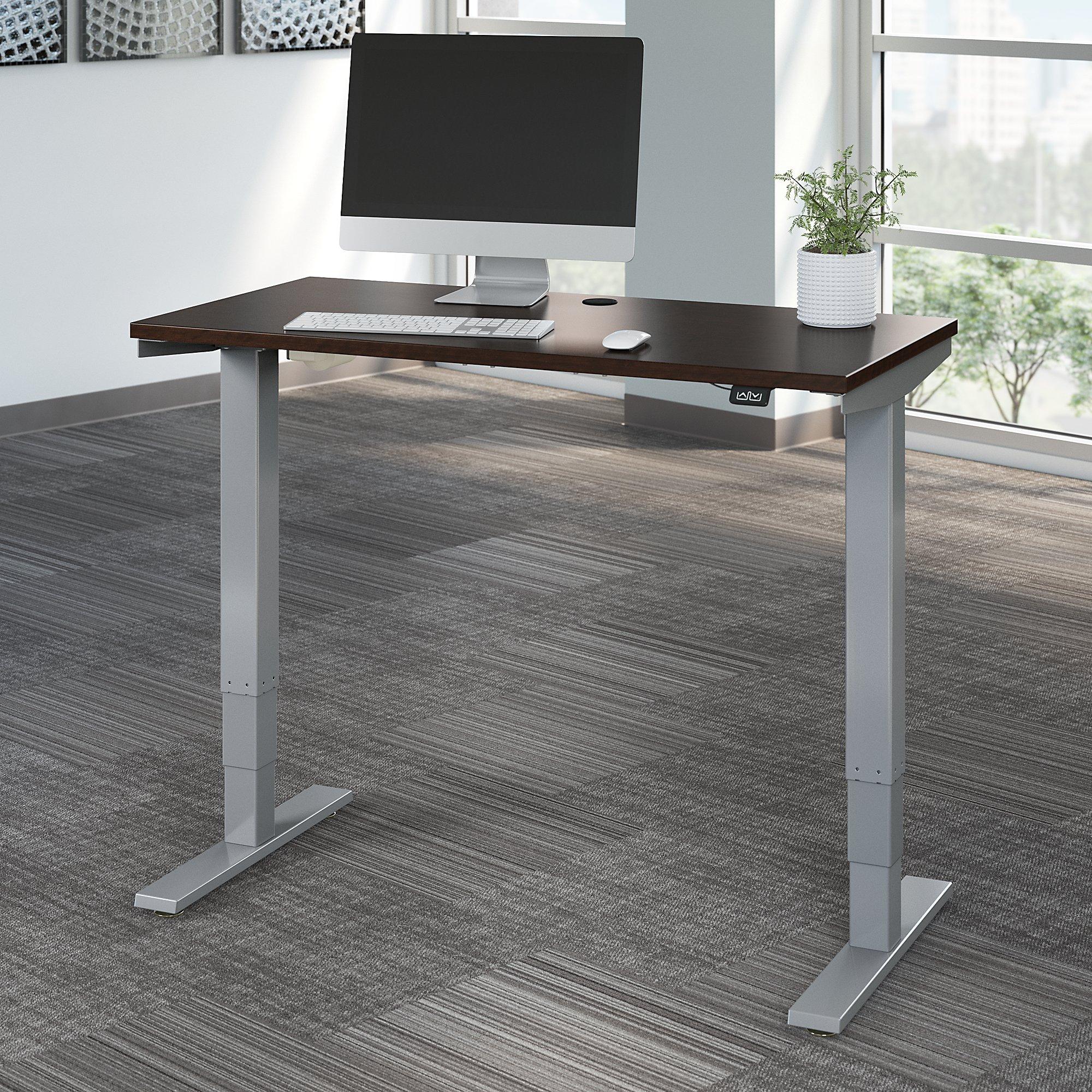 mocha cherry 48 x 24 height adjustable move 40 table