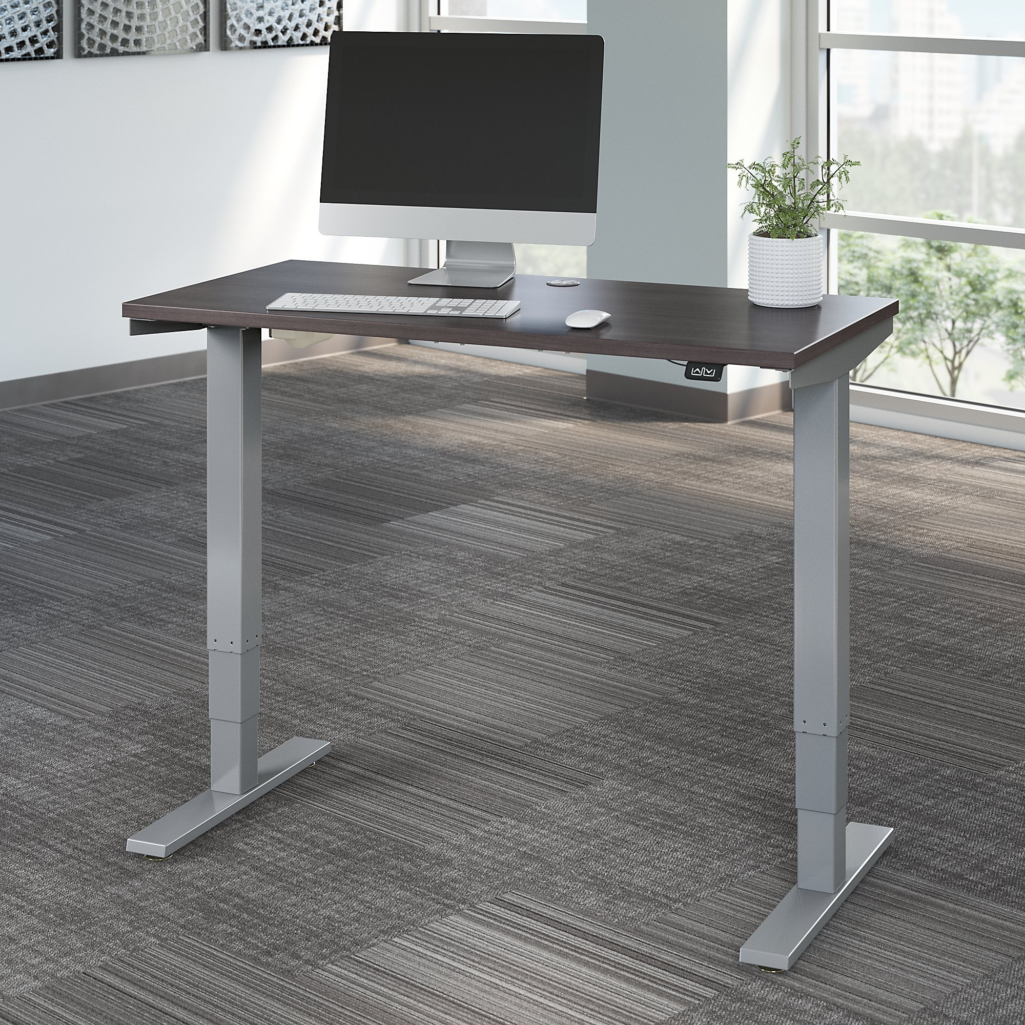 storm gray 48 x 24 height adjustable move 40 table