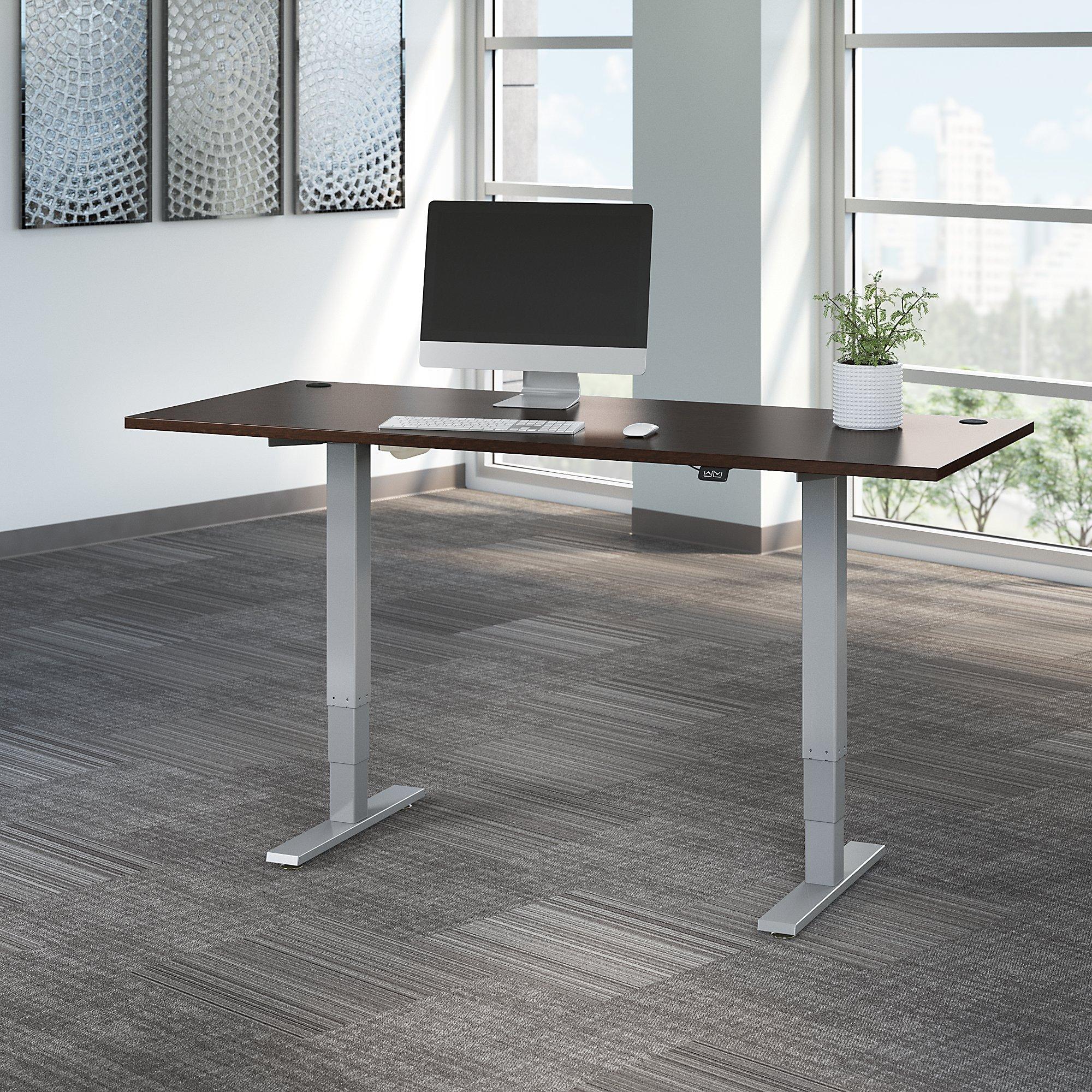 mocha cherry move 40 72x30 adjustable height desk