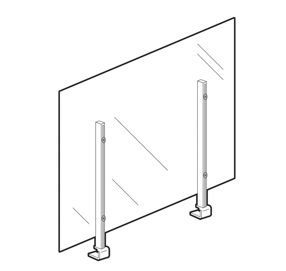 36 inch acrylic wellness screen
