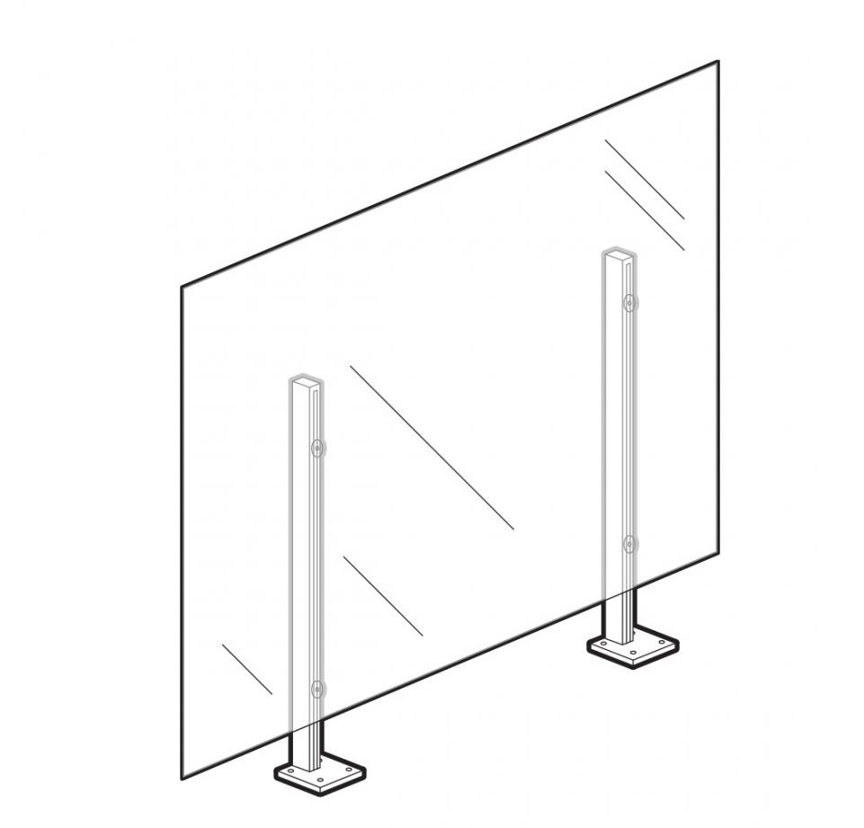 """36"""" surface mount wellness screen"""
