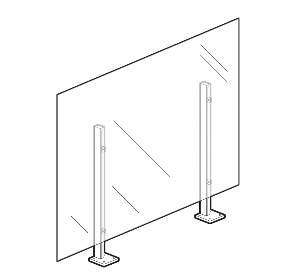 """48"""" surface mount wellness screen"""