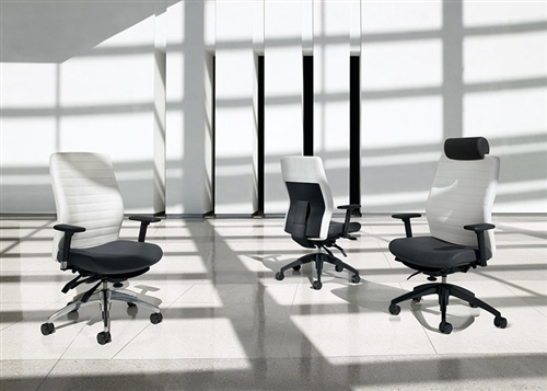 Global Aspen 2852LM-3 Leather Office Chair
