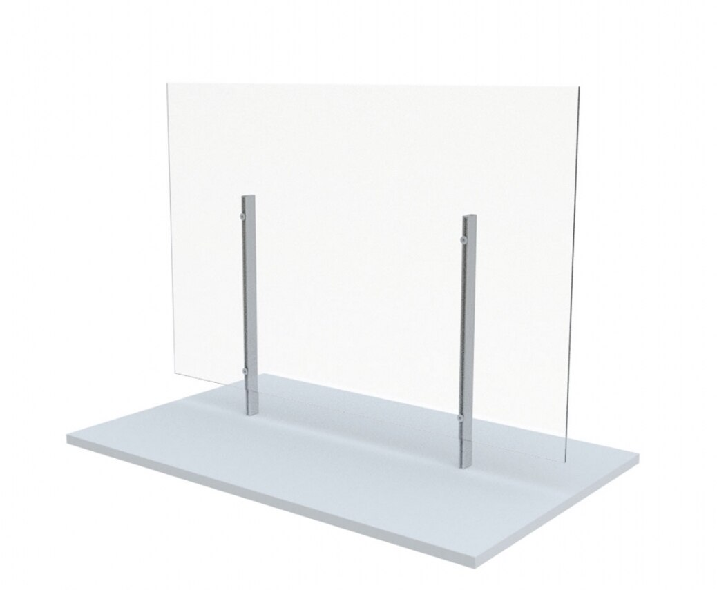 freestanding clear acrylic wellness screen