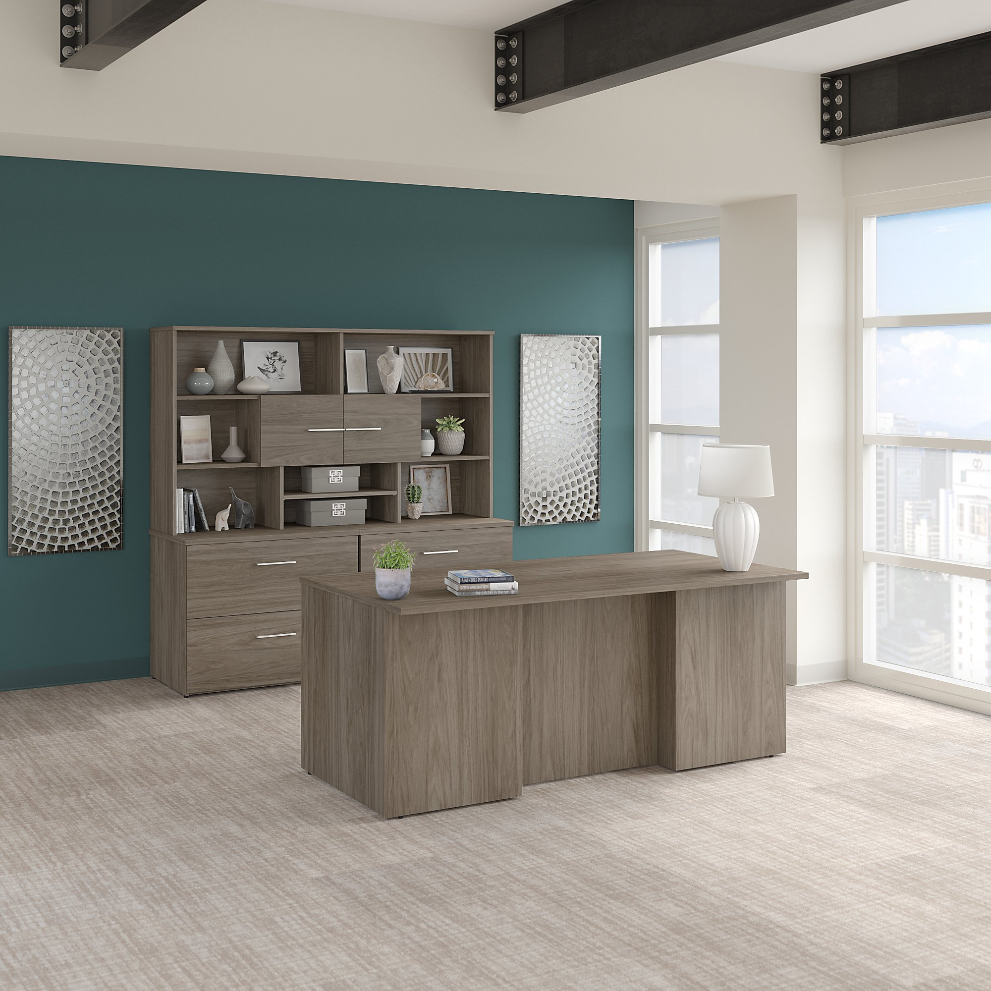 modern hickory office 500 executive suite