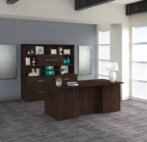 office 500 executive suite in black walnut