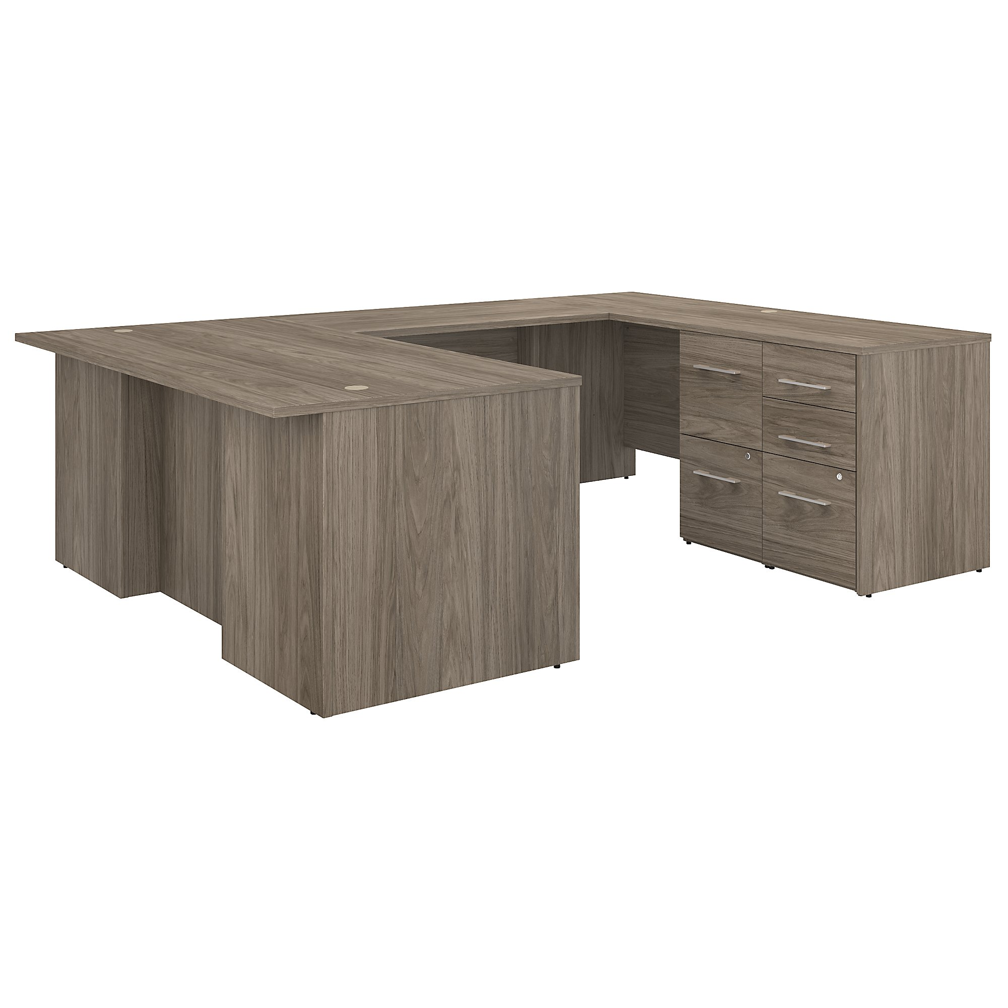 office 500 u shaped desk in modern hickory