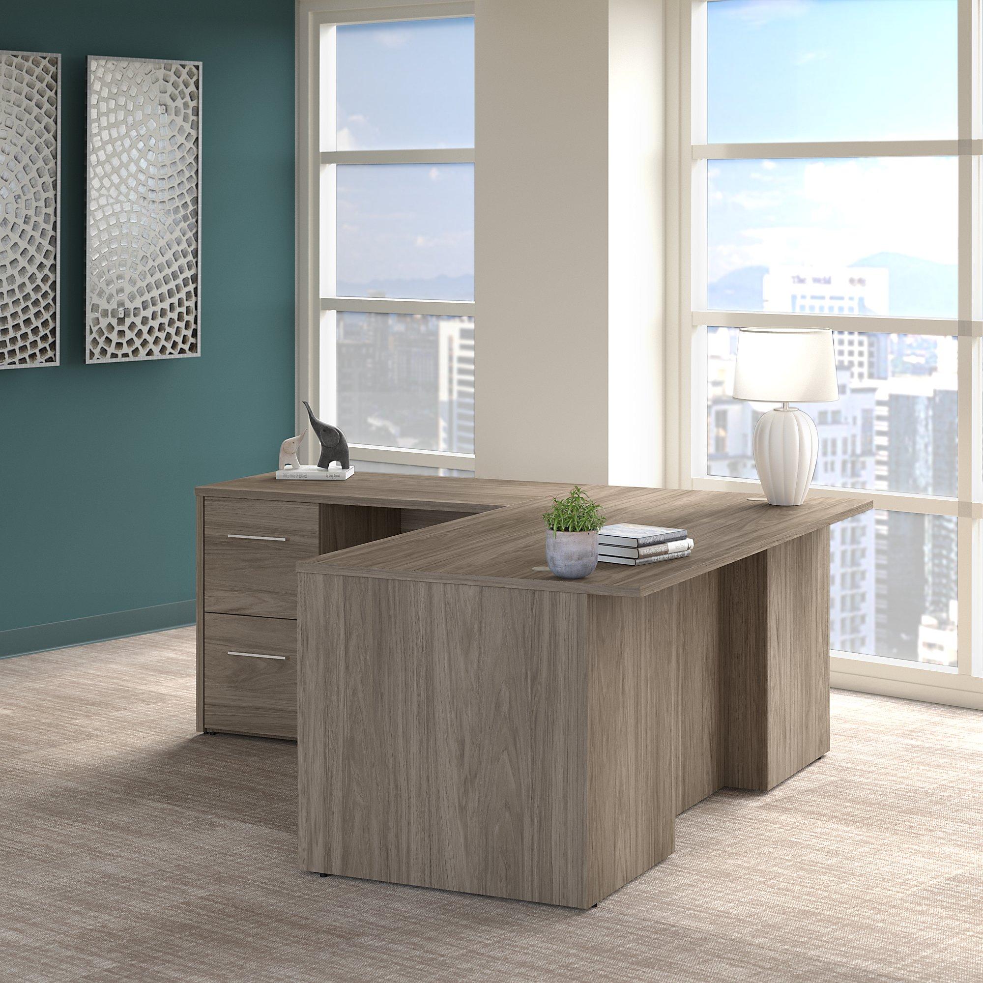 modern hickory office 500 l shaped desk