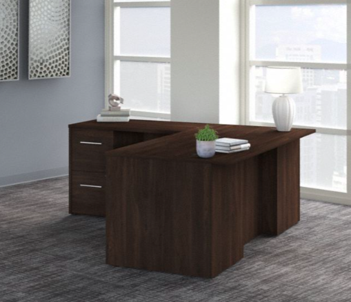 black walnut office 500 l shaped desk