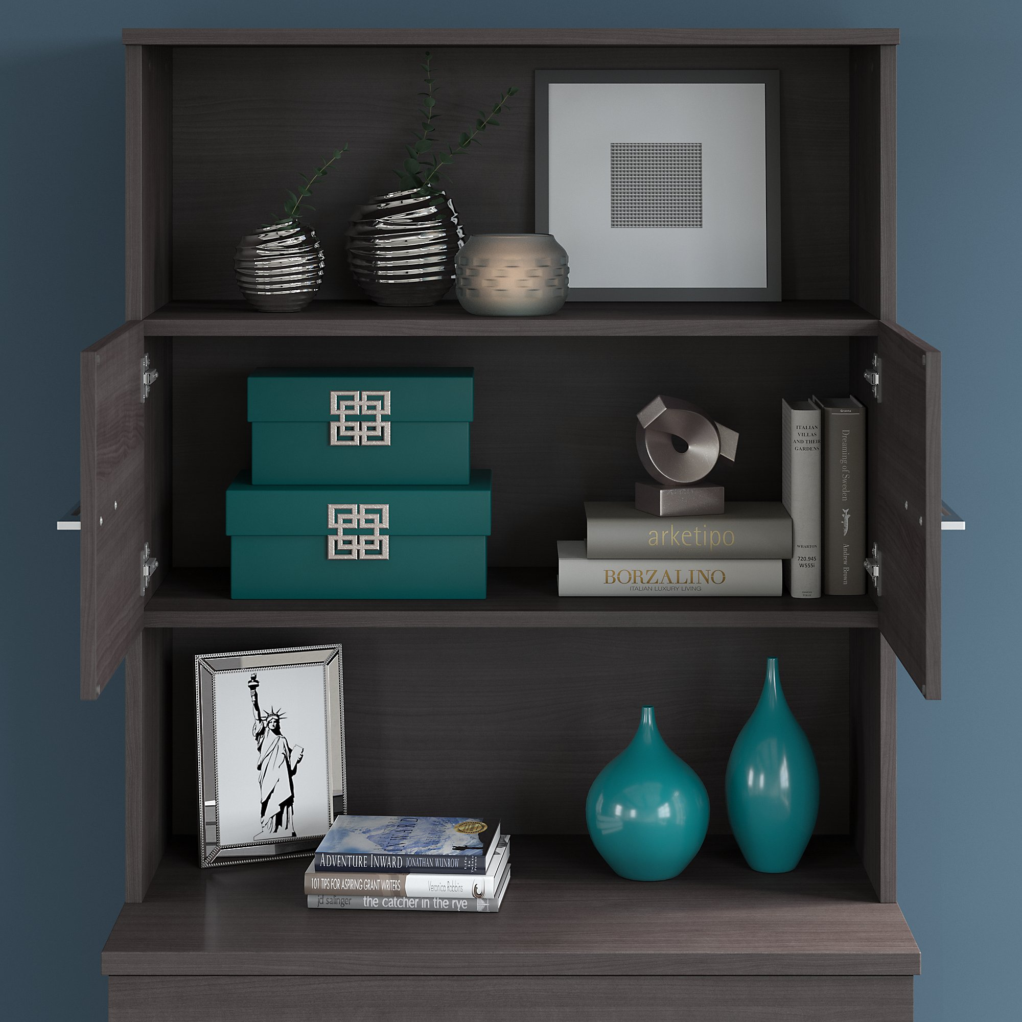office 500 bookcase hutch