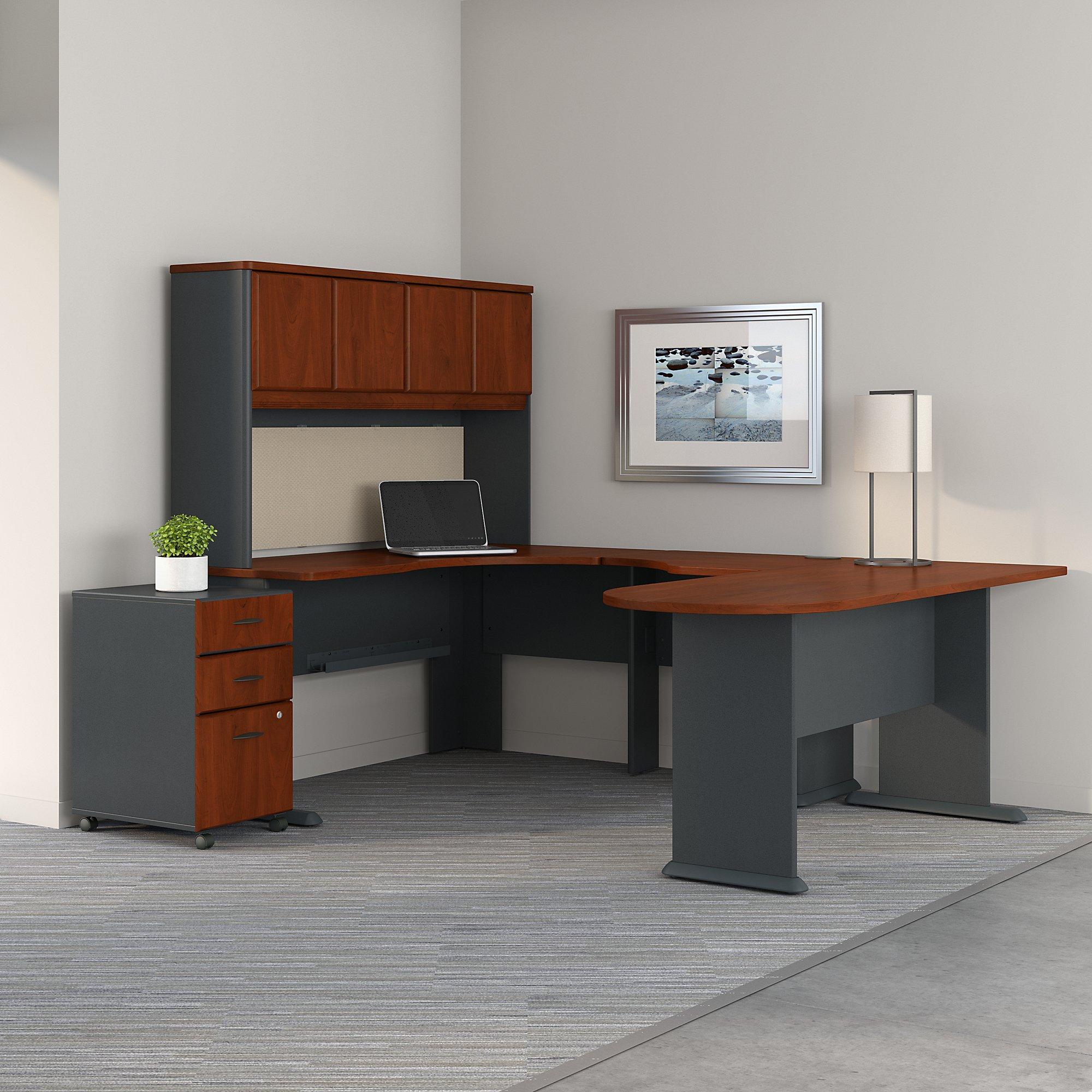 hansen cherry series a u shaped desk with hutch