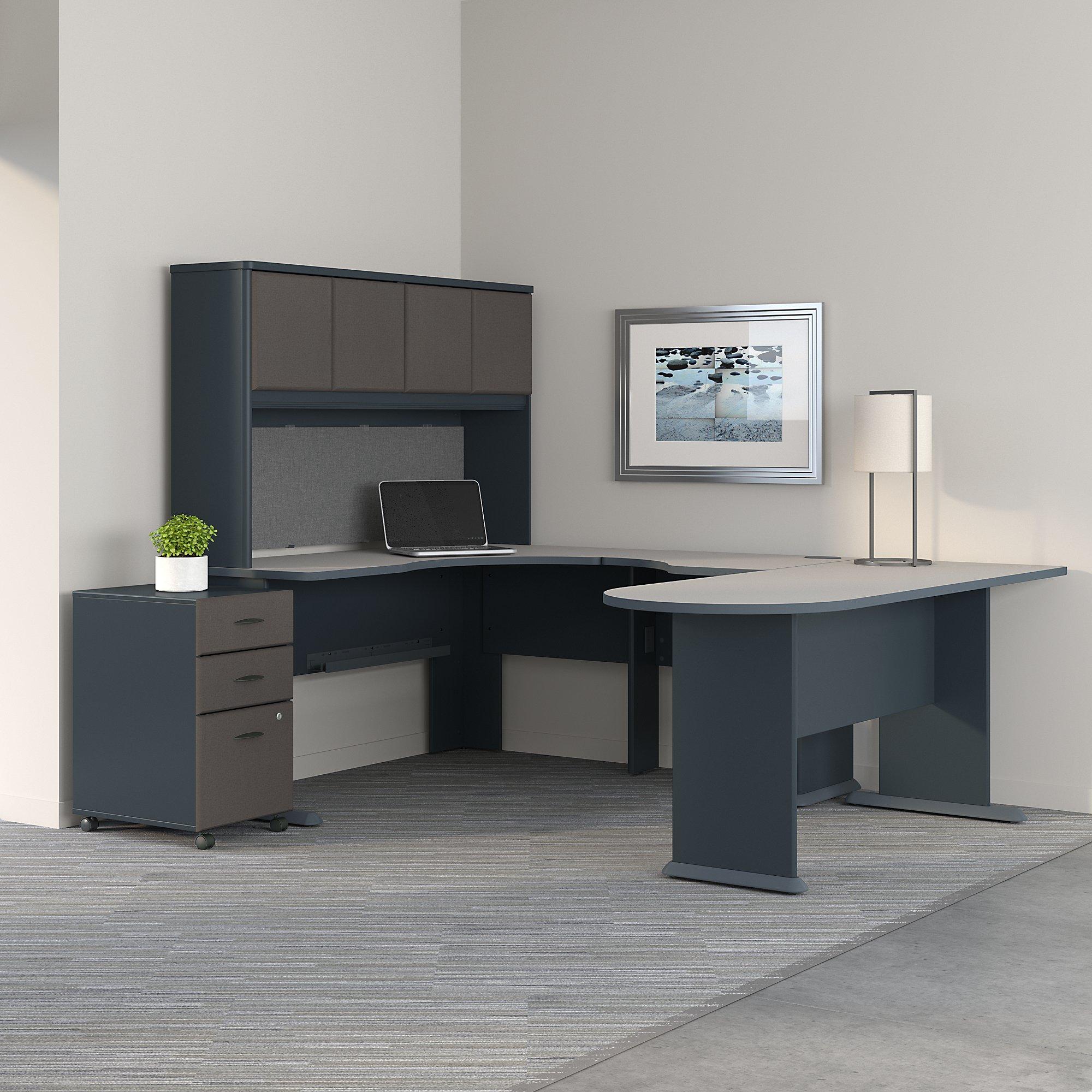 slate series a u shaped desk with hutch